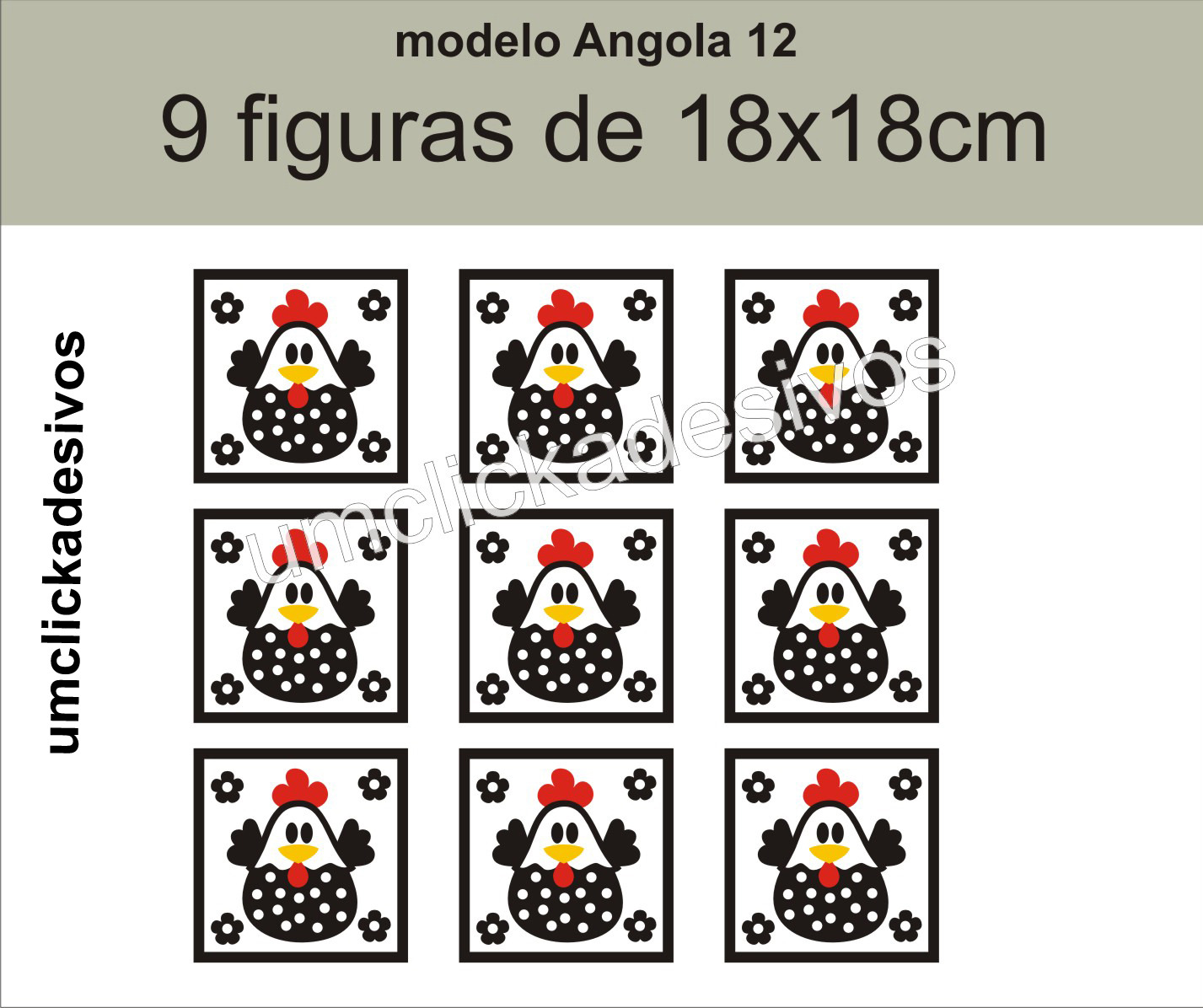 Adesivo Cozinha Galinha Angola 12 Adesivo Cozinha Galinha Angola 12