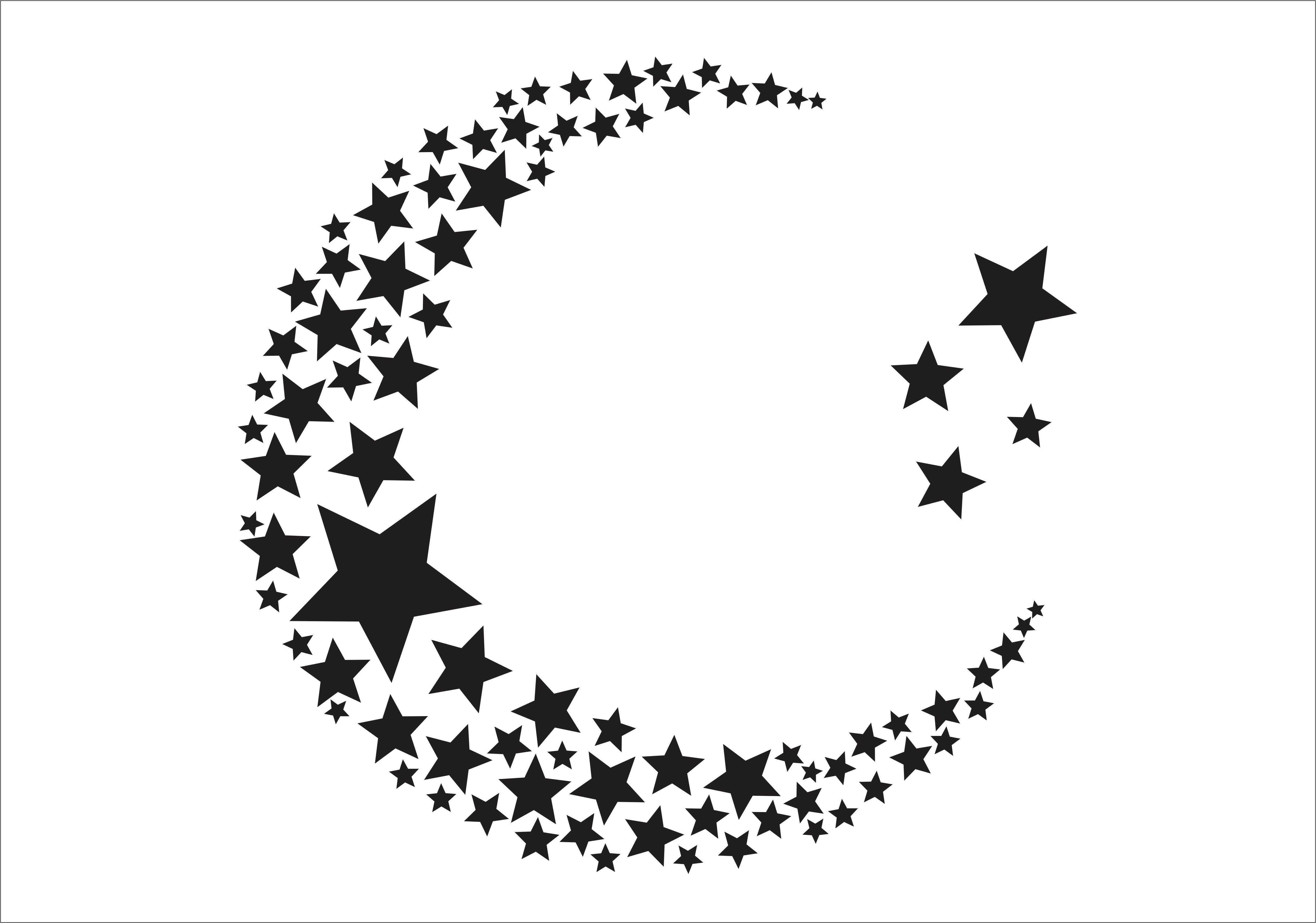 Adesivo De Estrela ~ Adesivo Lua de estrelas Adesivos Coruja Charmosa Elo7