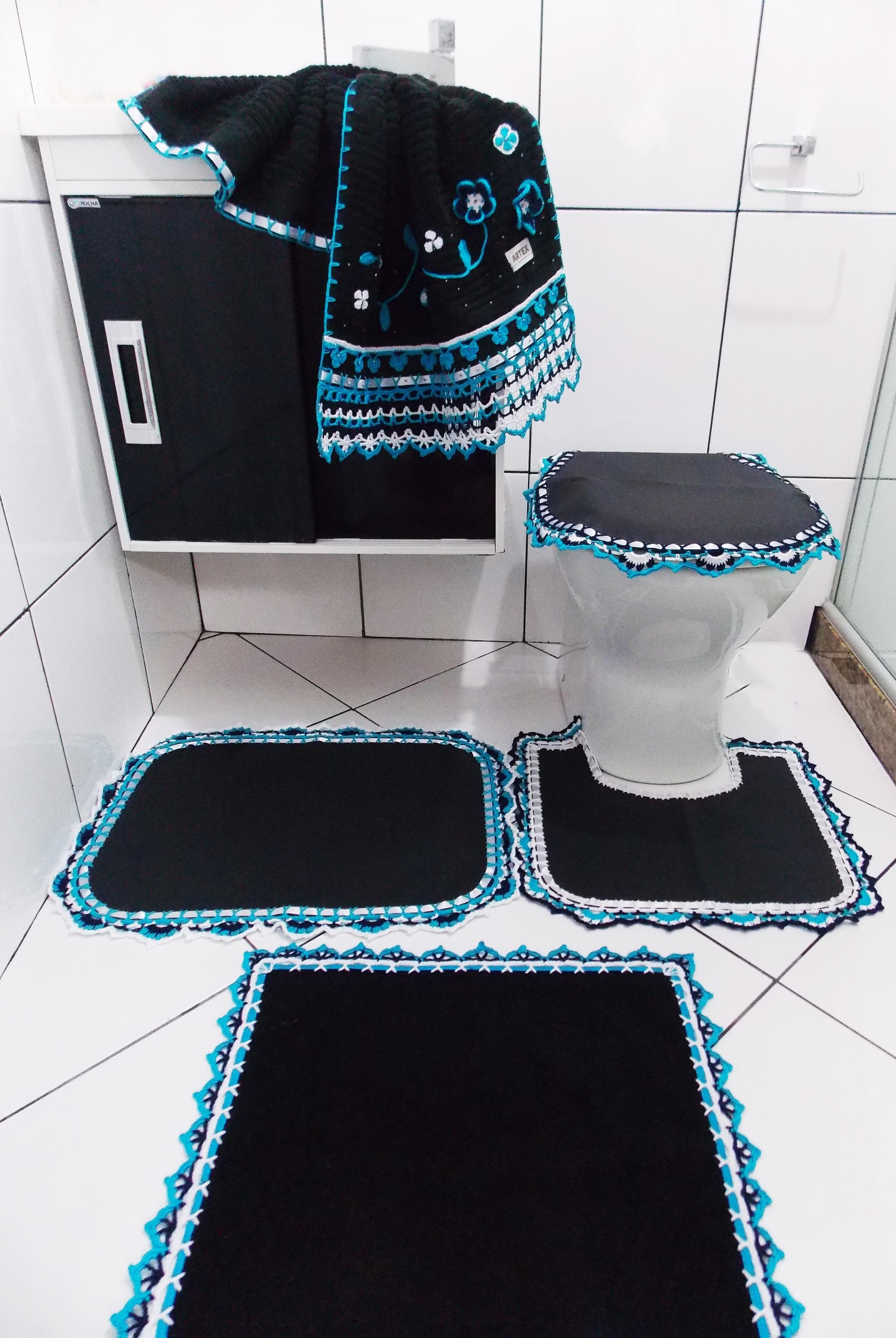 decoracao banheiro homem:jogo de banheiro homem requinte decoracao  #1B90B0 3086 4608