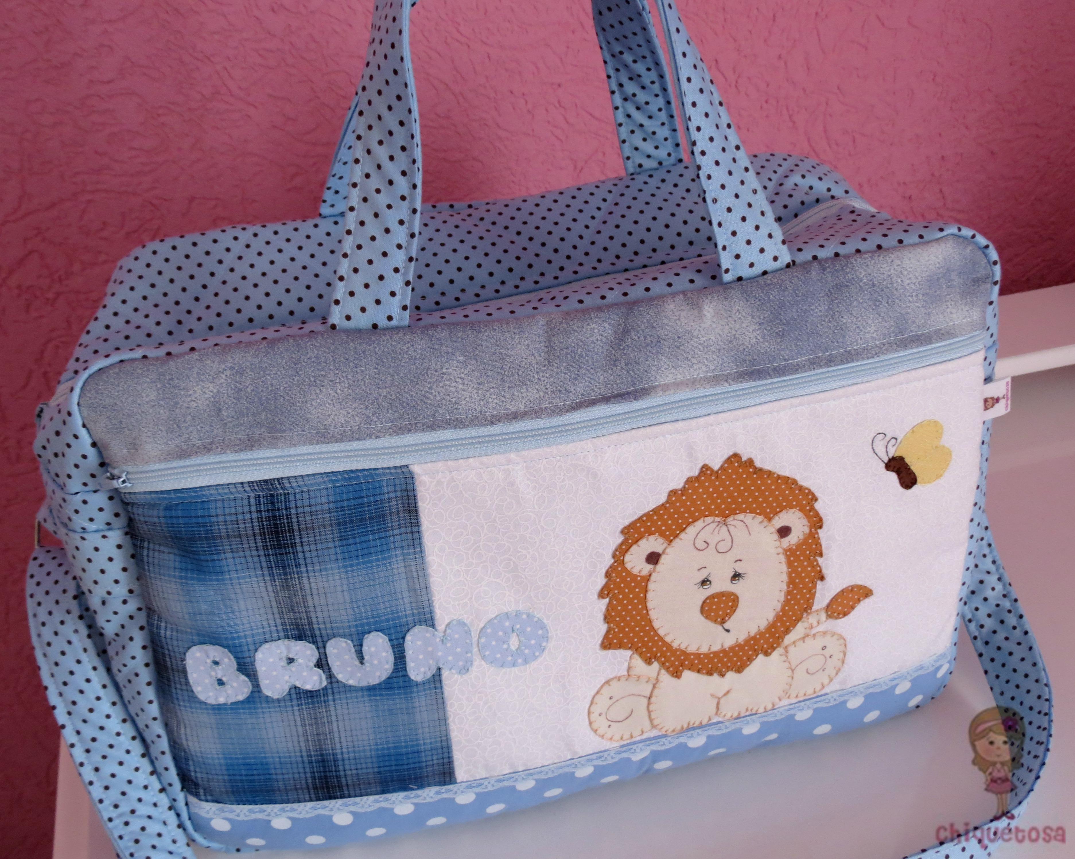 Bolsa De Tecido Bebe : Bolsa de beb? le?o ateli? chiquetosa elo