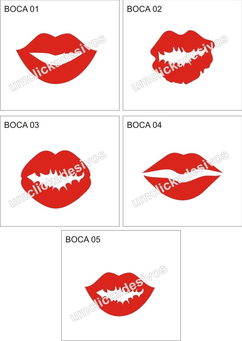 Adesivo Reposição Hormonal Feminino ~ adesivo beijo boca Um click adesivos Elo7