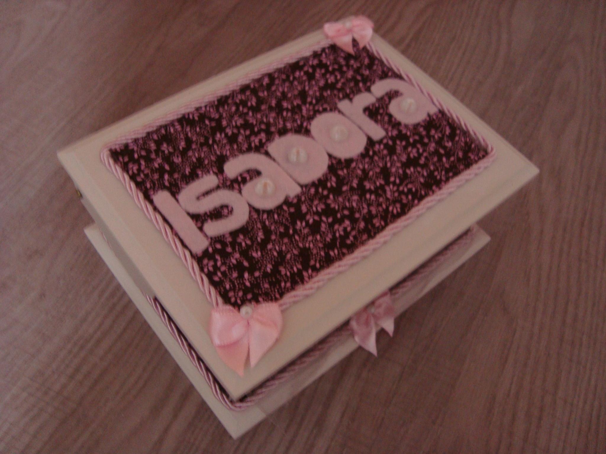 caixa de madeira decorada com tecido caixa #3C1E1D 2048x1536