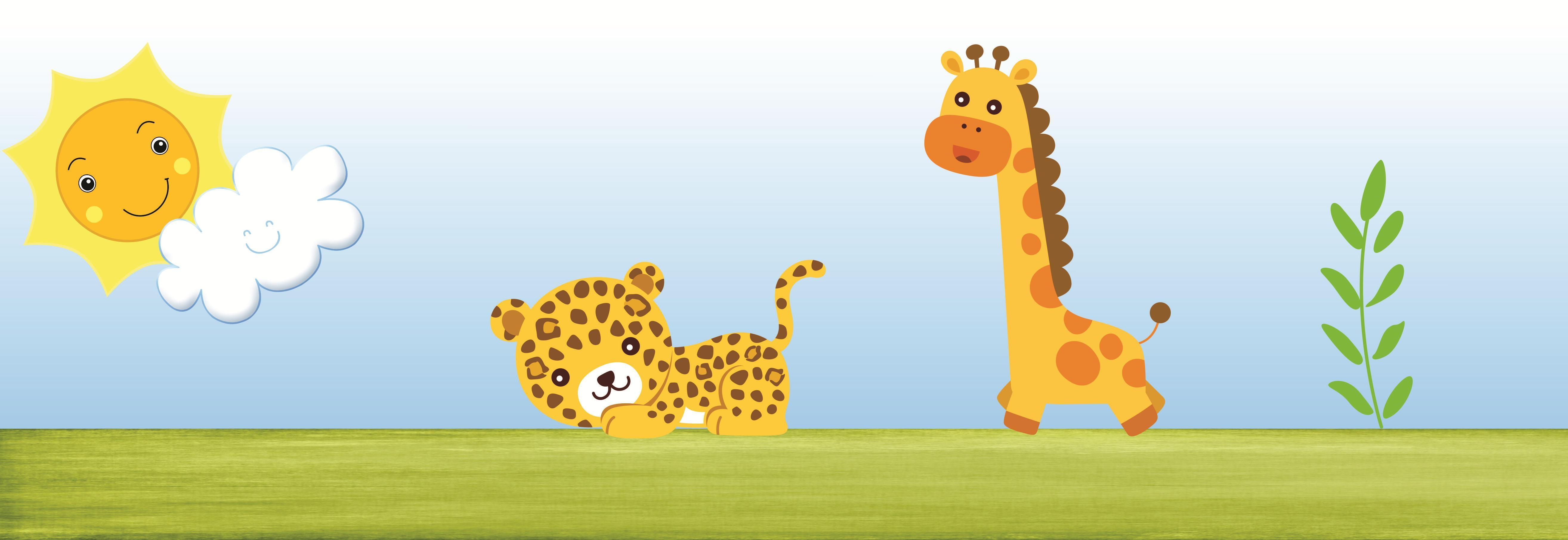 Nursery wallpaper animals