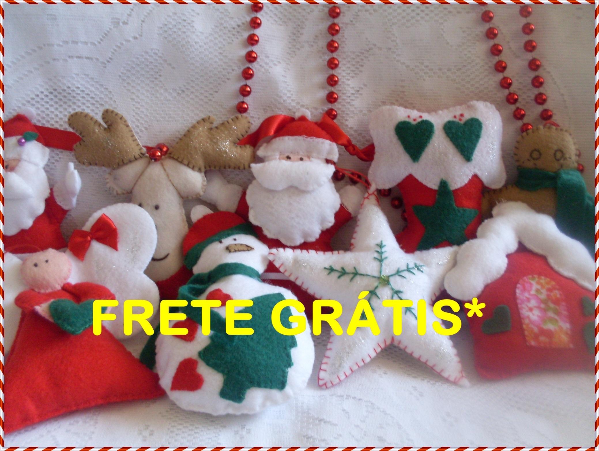 Enfeite De Natal ~ Enfeite De Natal Feltro crocheestilocasa Elo7