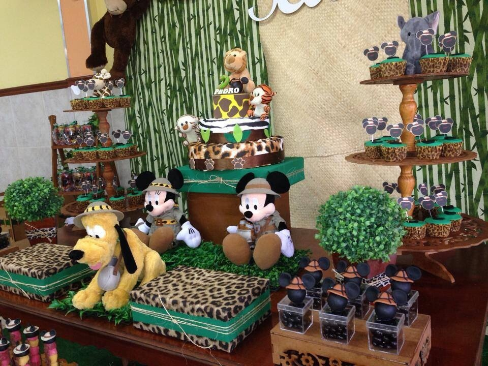 decoracao festa safari:decoracao festa mickey safari r 350 00 selva decoracao festa