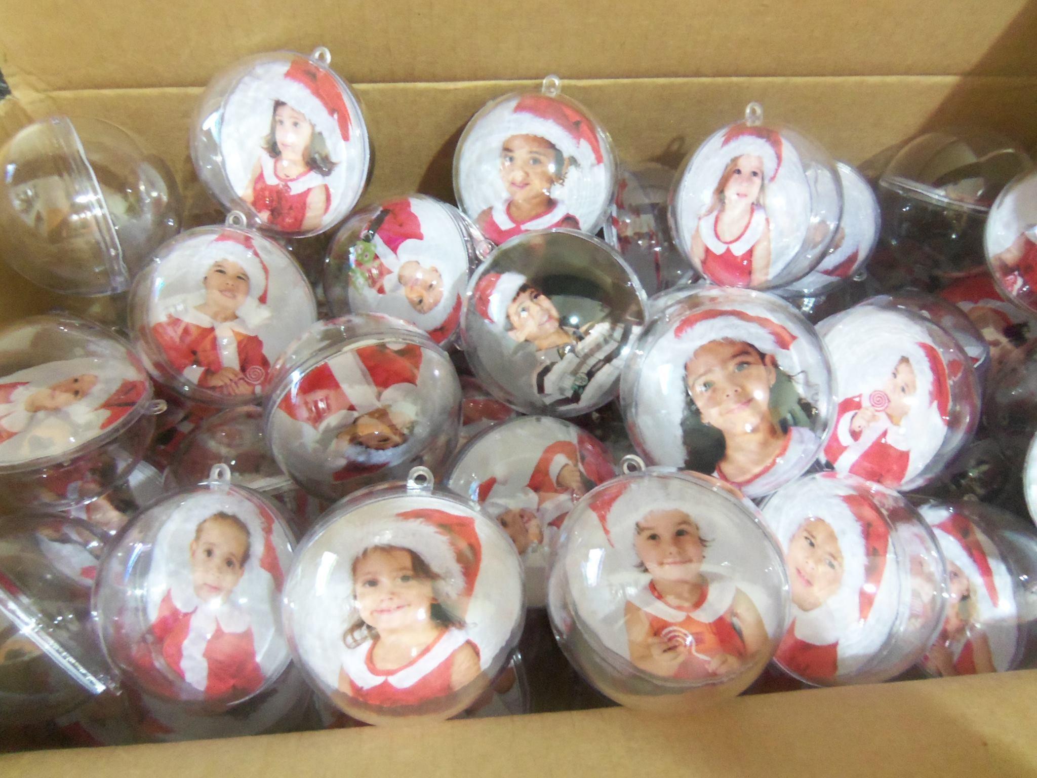 Bolas de acr lico personalizadas lm art brindes elo7 - Bolas transparentes para decorar ...