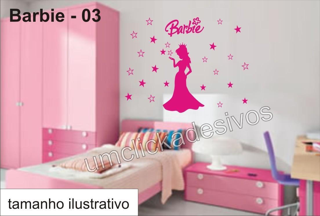 Quarto Decorado Infantil Da Barbie ~ infantil meninas barbie 03 quarto bebe adesivo infantil meninas barbie