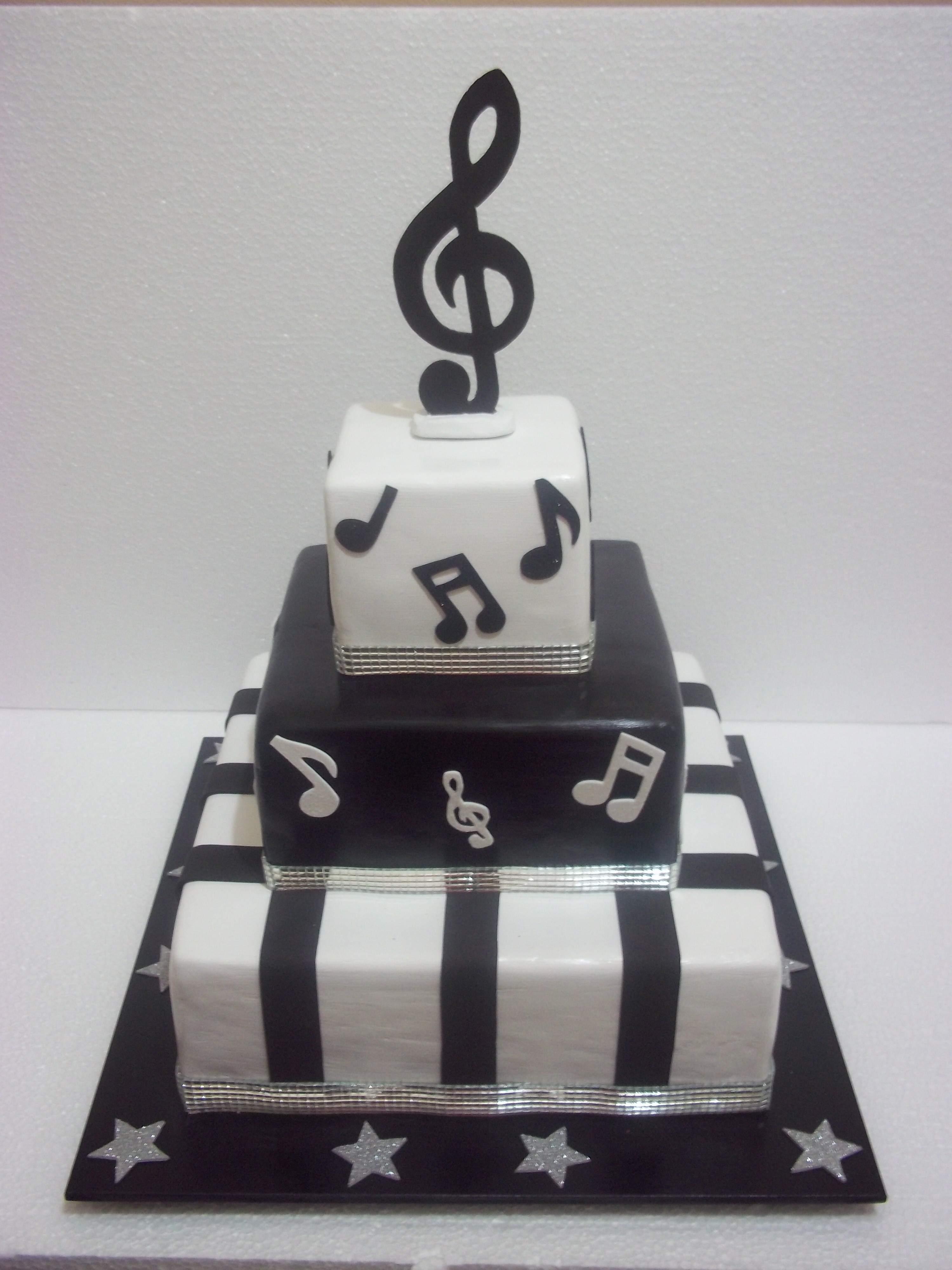 notas musicais decoracao de festa infantil bolo cenografico de notas
