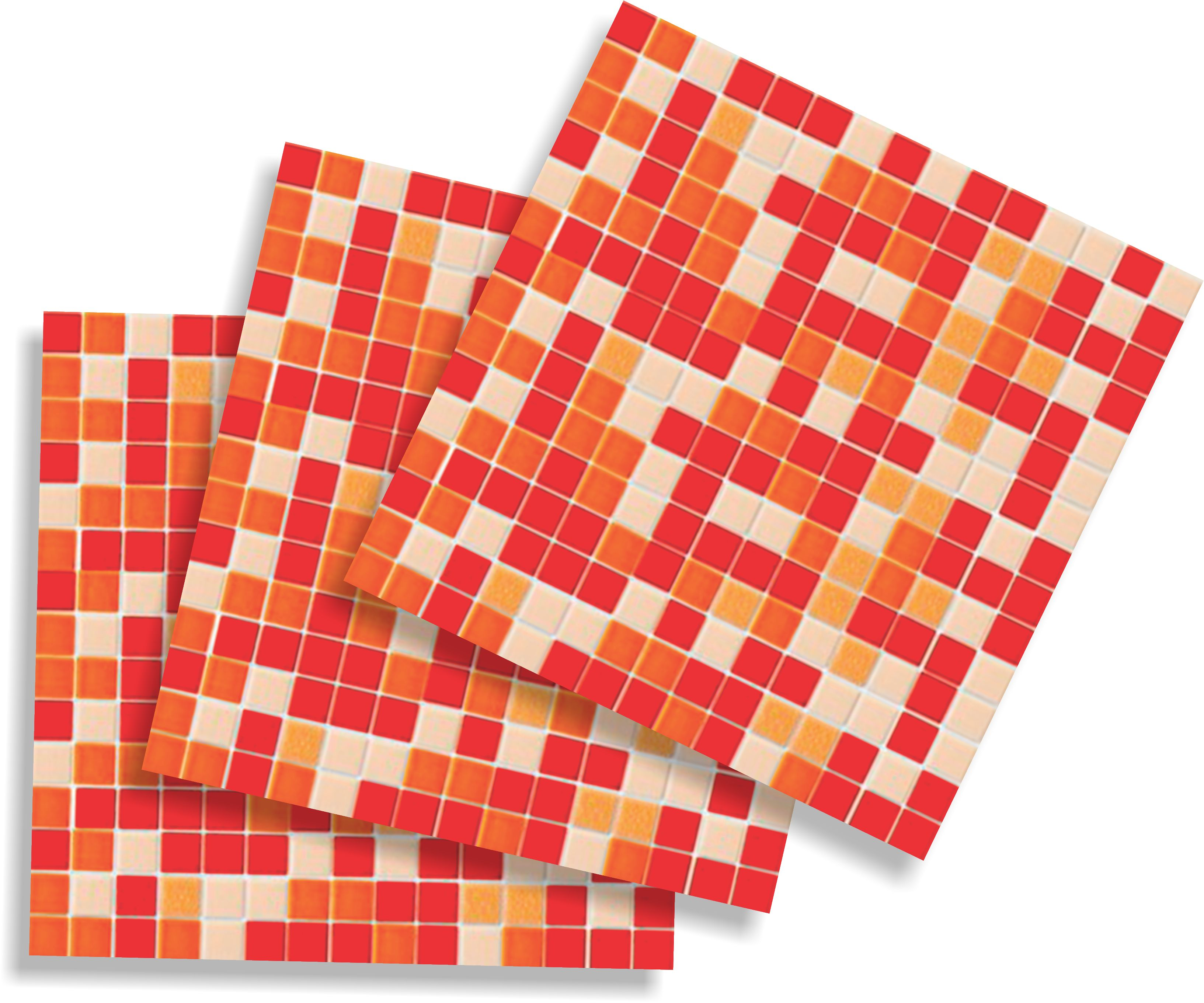 adesivos pastilha laranja frete gratis colorido adesivos pastilha  #C1730A 3266x2721 Banheiro Com Pastilhas Amarelas