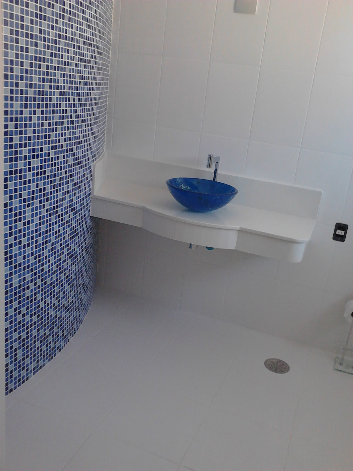 adesivo pastilha azul frete gratis colorido kit adesivo pastilha azul  #364268 1200x1600 Banheiro Azul Pastilha
