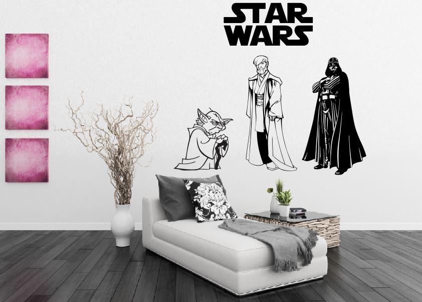 Artesanato Com Feltro Para Vender ~ Adesivo decorativo Temática Star Wars Sobressair Elo7