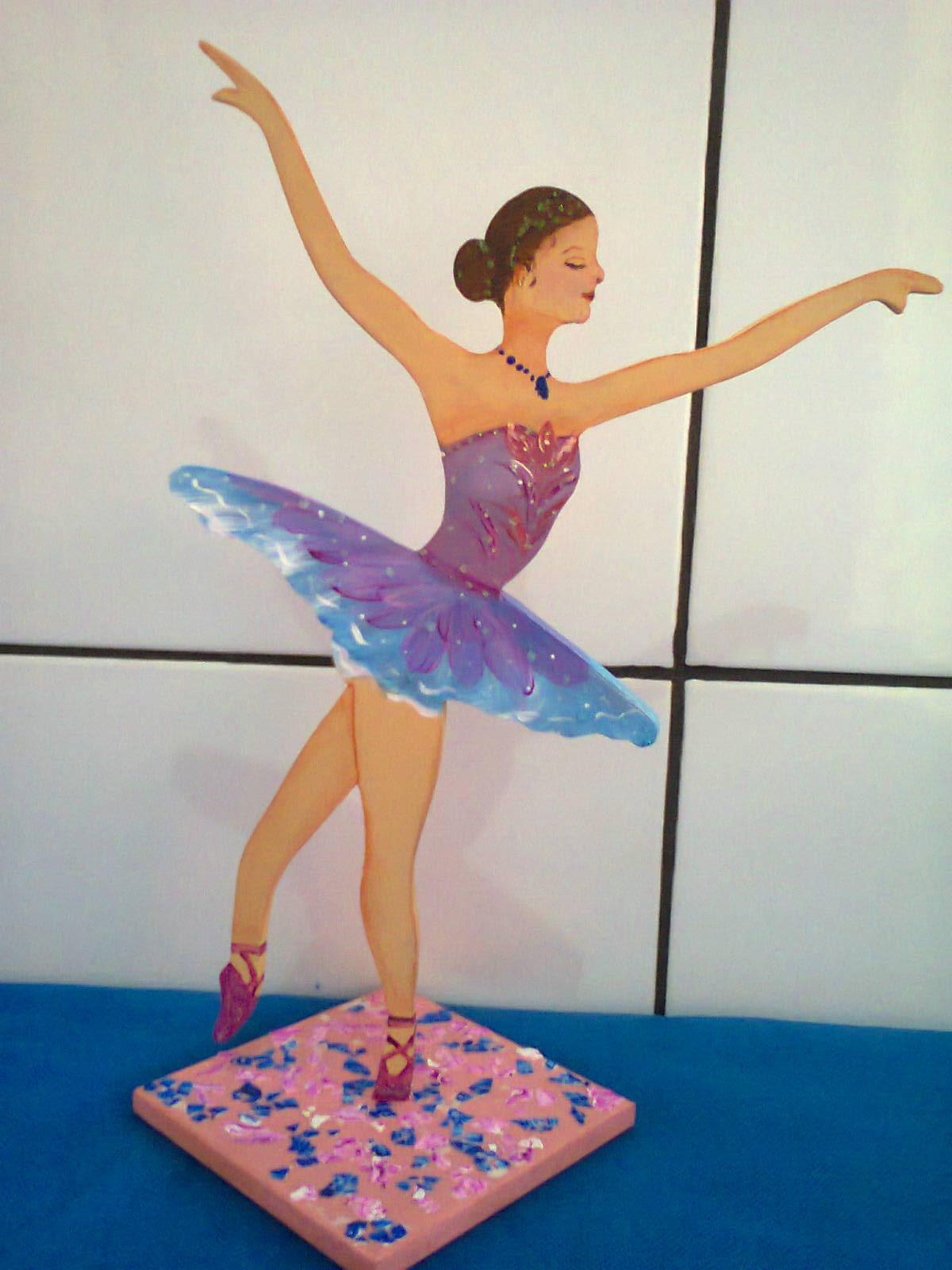 Bailarina Pintura Em Mdf Cm De Altur