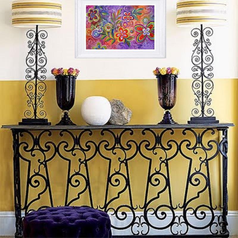 Abstrato Floral 50x80 Cod 582 Abstrato Floral 50x80 Cod 582 Abstrato