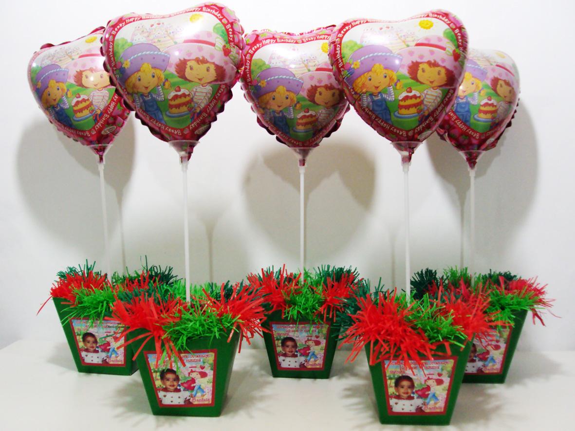 Cachepo grande Com Balão da Moranguinho DigiArt Kids Elo7 #B01B1C 1181x886