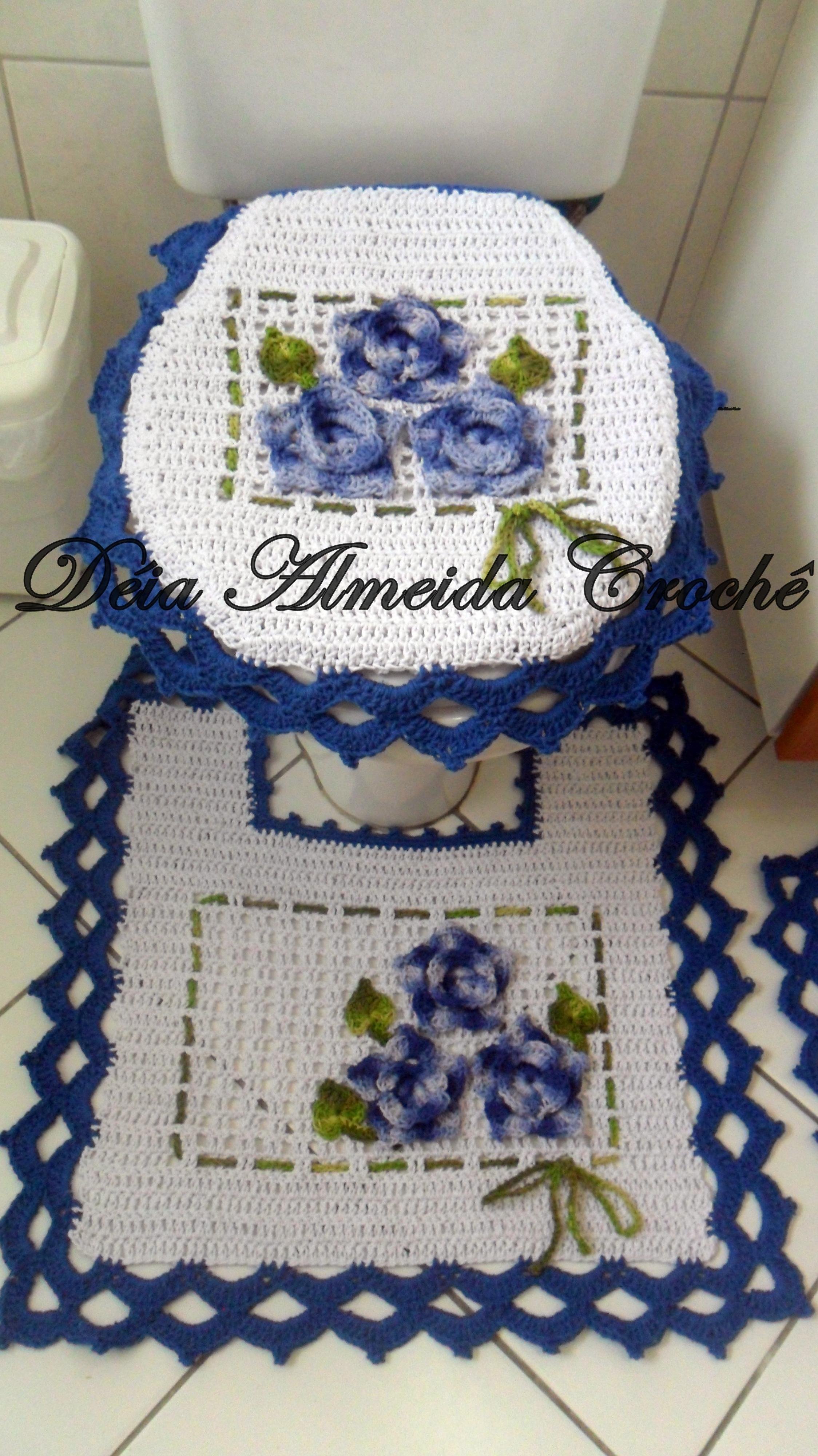 jogo de banheiro azul floral enxoval jogo de banheiro azul floral  #273865 2248x4000 Banheiro Com Azul