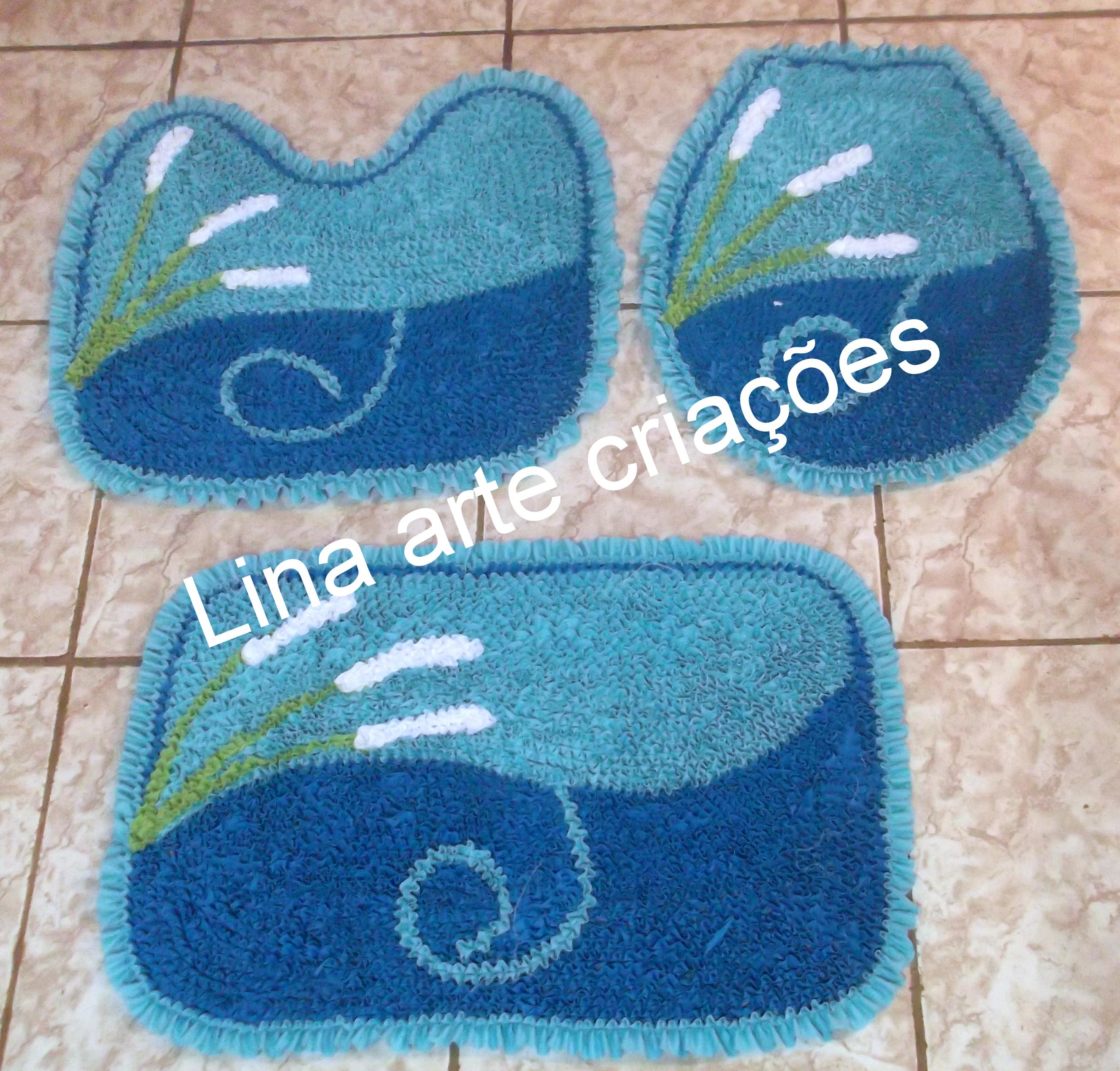Flor Azul Tapete Jogo De Tapete Para Banheiro Flor Azul Banheiro Jogo  #134A82 2654 2537
