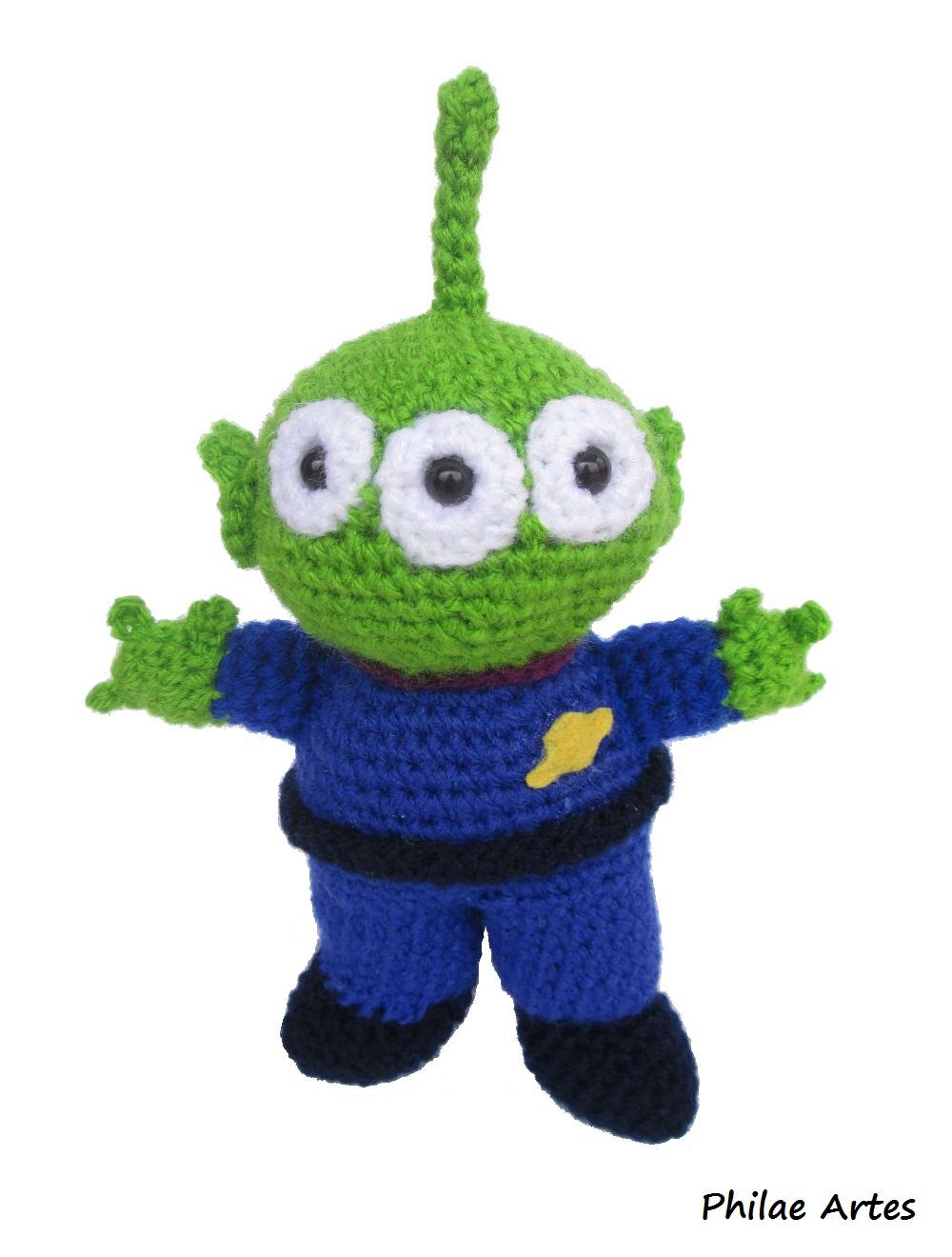 Amigurumi De Alien : Alien - Toy Story (em croch?) Philae Artes Elo7