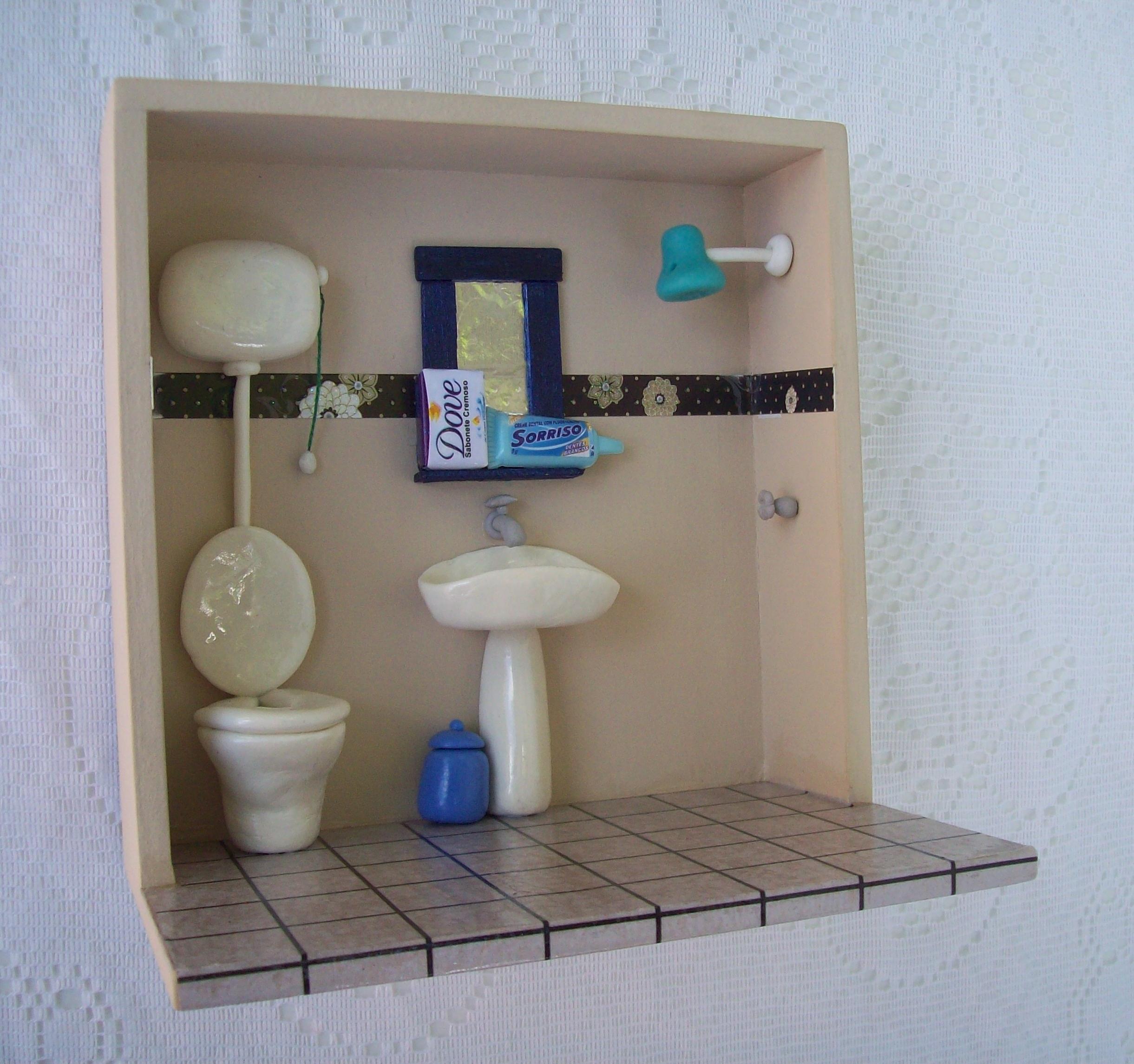 Banheiro Biscuit  Nossa Lojinha  Elo7 -> Cuba Banheiro Biscuit
