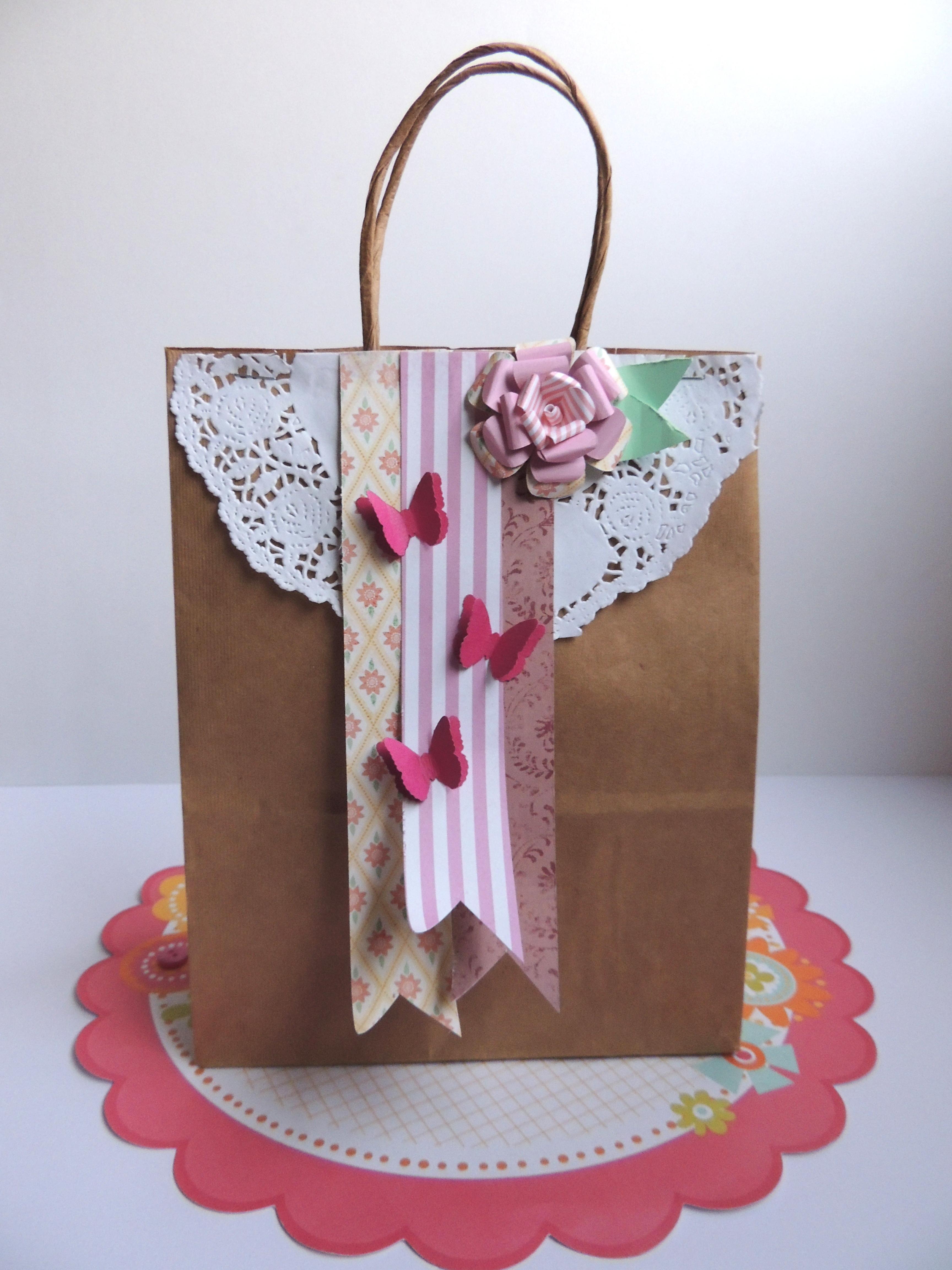 Bolsa De Papel Personalizada Casamento : Sacola craft decora??o de casamento ateli? cibele