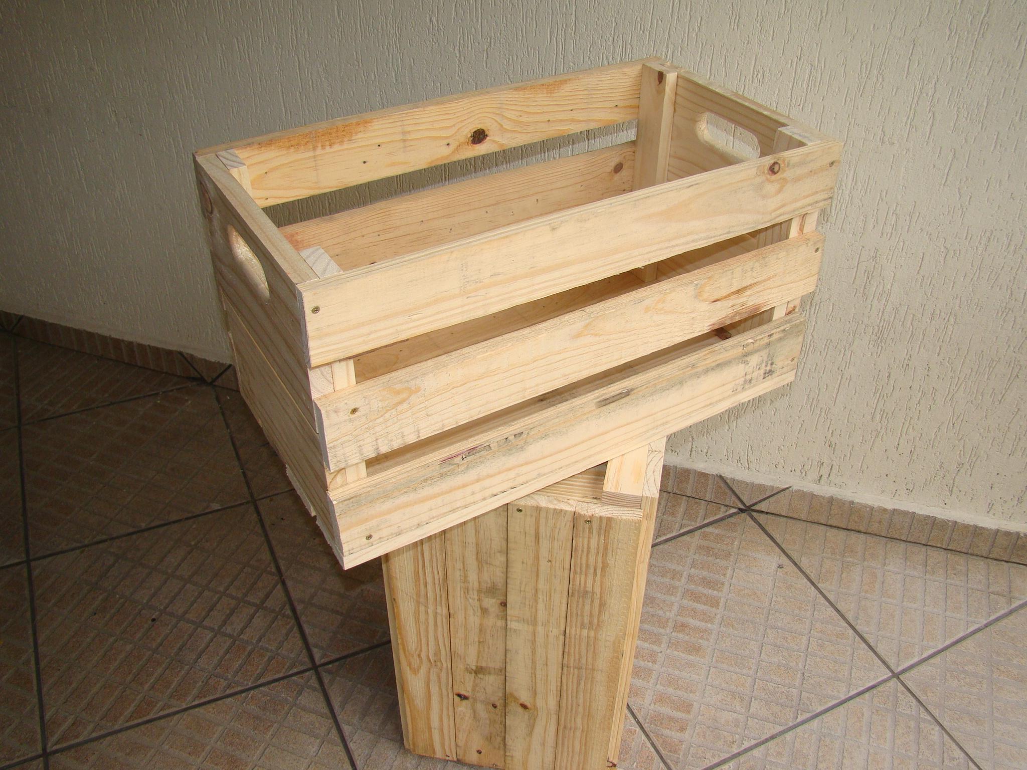 Caixote de Feira  caixotedefeira  Elo7 -> Banheiro Decorado Com Caixote De Feira