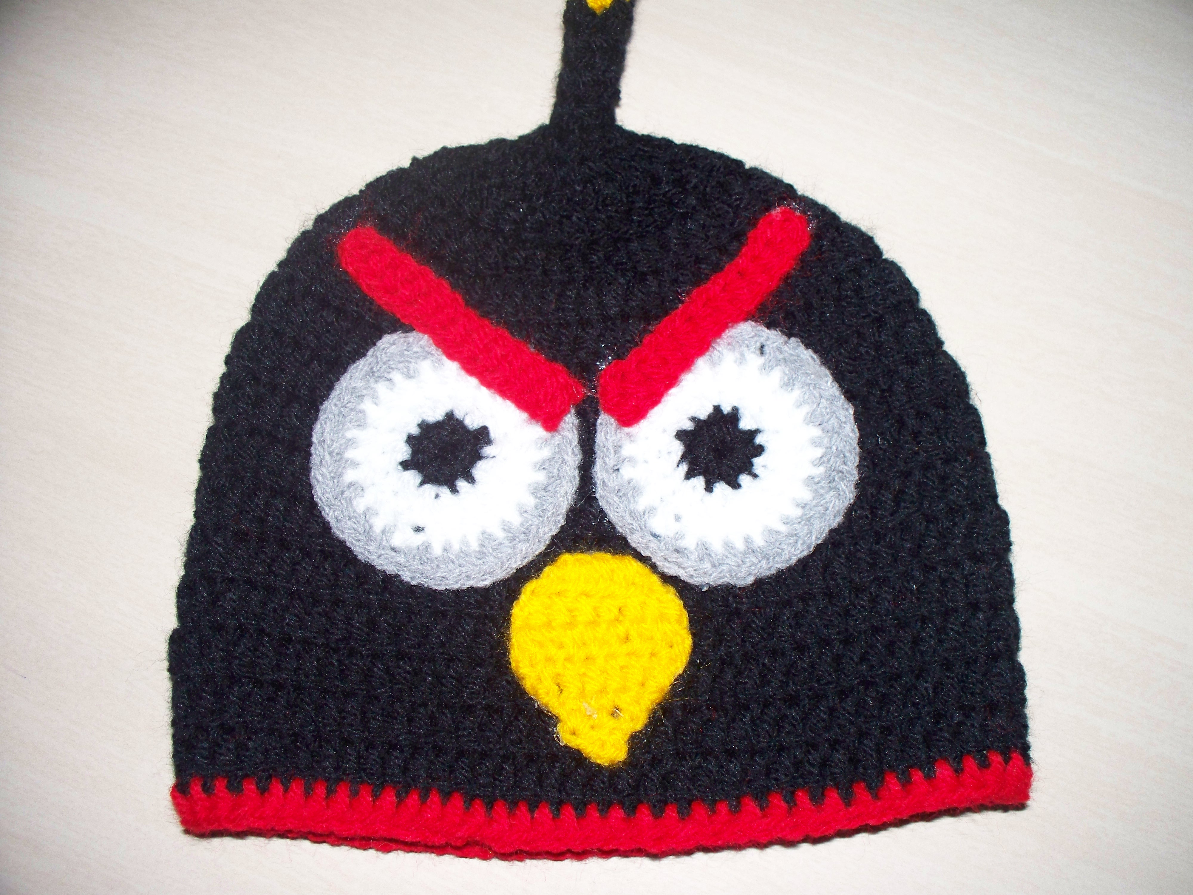 Body Mesversario Angry Birds Kit No Elo7: Touca Angry Birds Preta