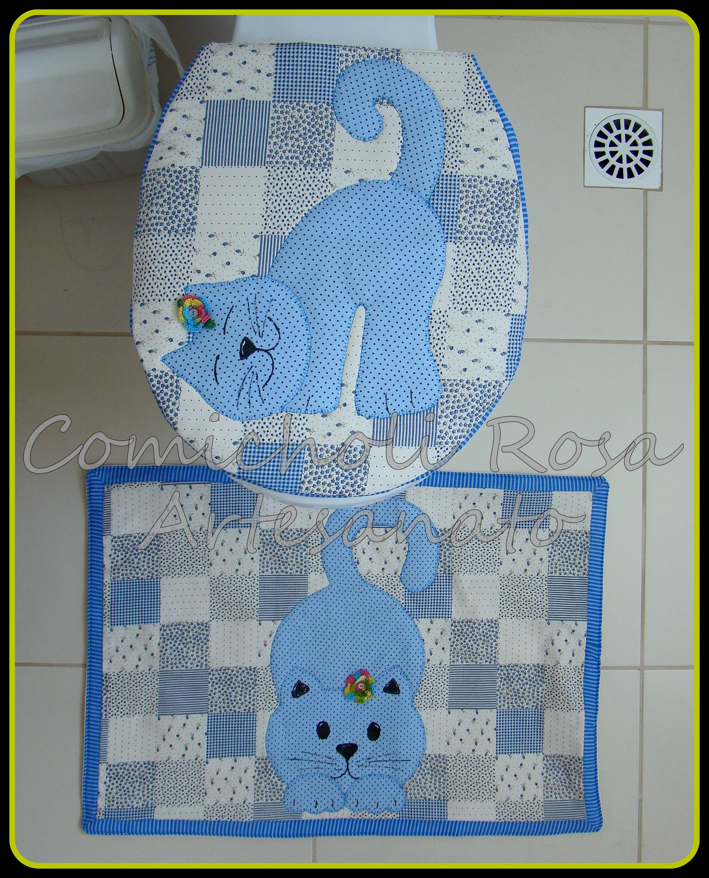 jogo de banheiro sapo gato gato #204987 2269 2808