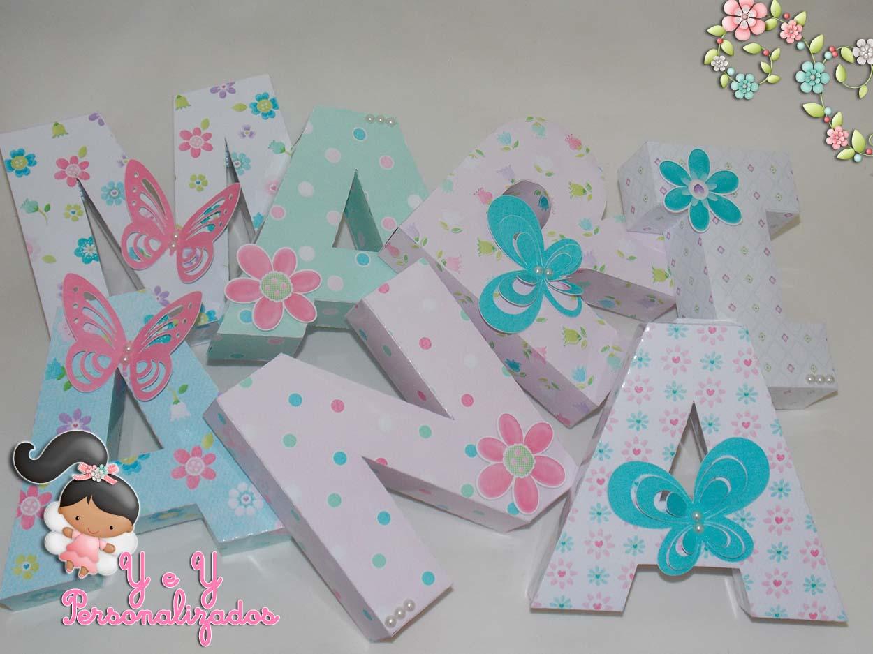flores do jardim letra : flores do jardim letra:letra-3d-borboletas-e-flores-letras