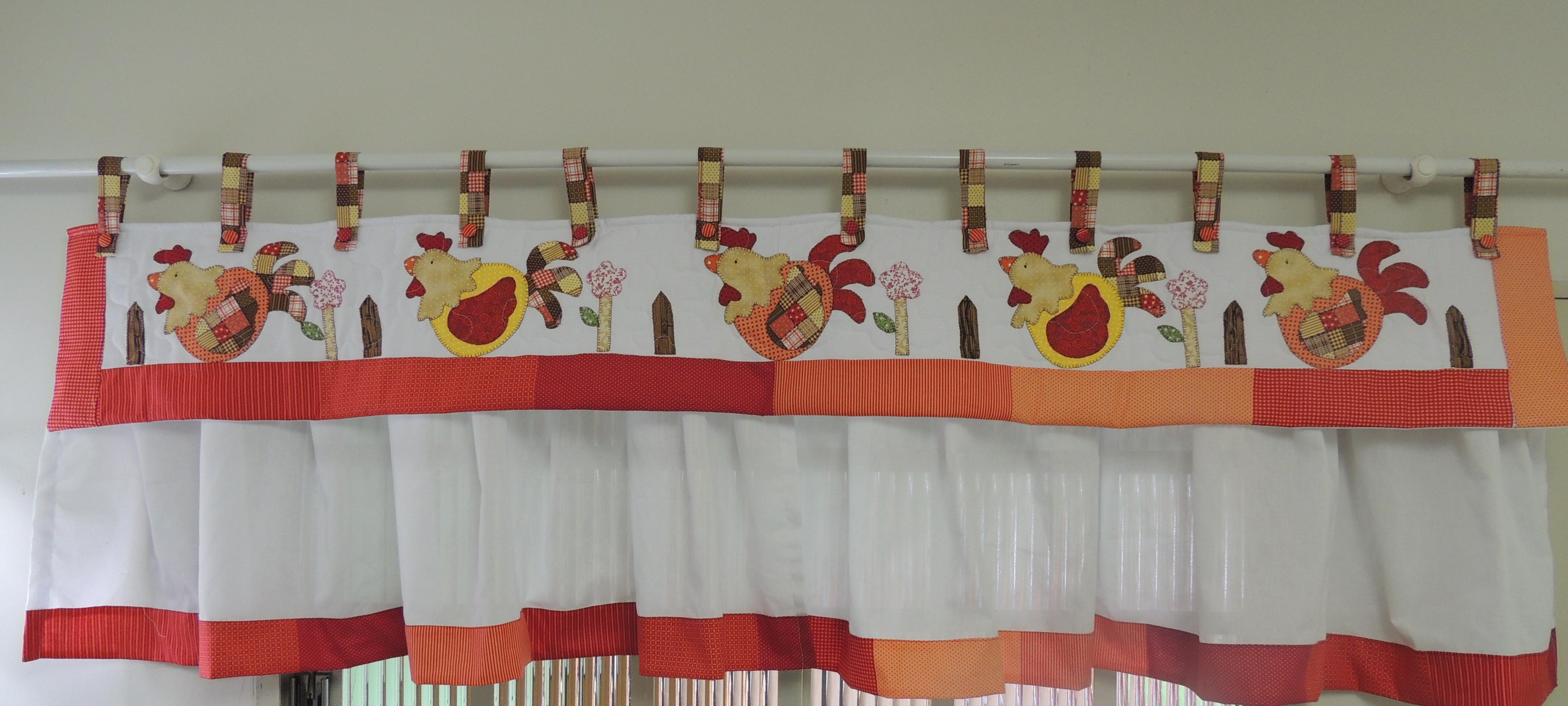 cozinha galinha patchwork bando de cozinha cortina de cozinha galinha