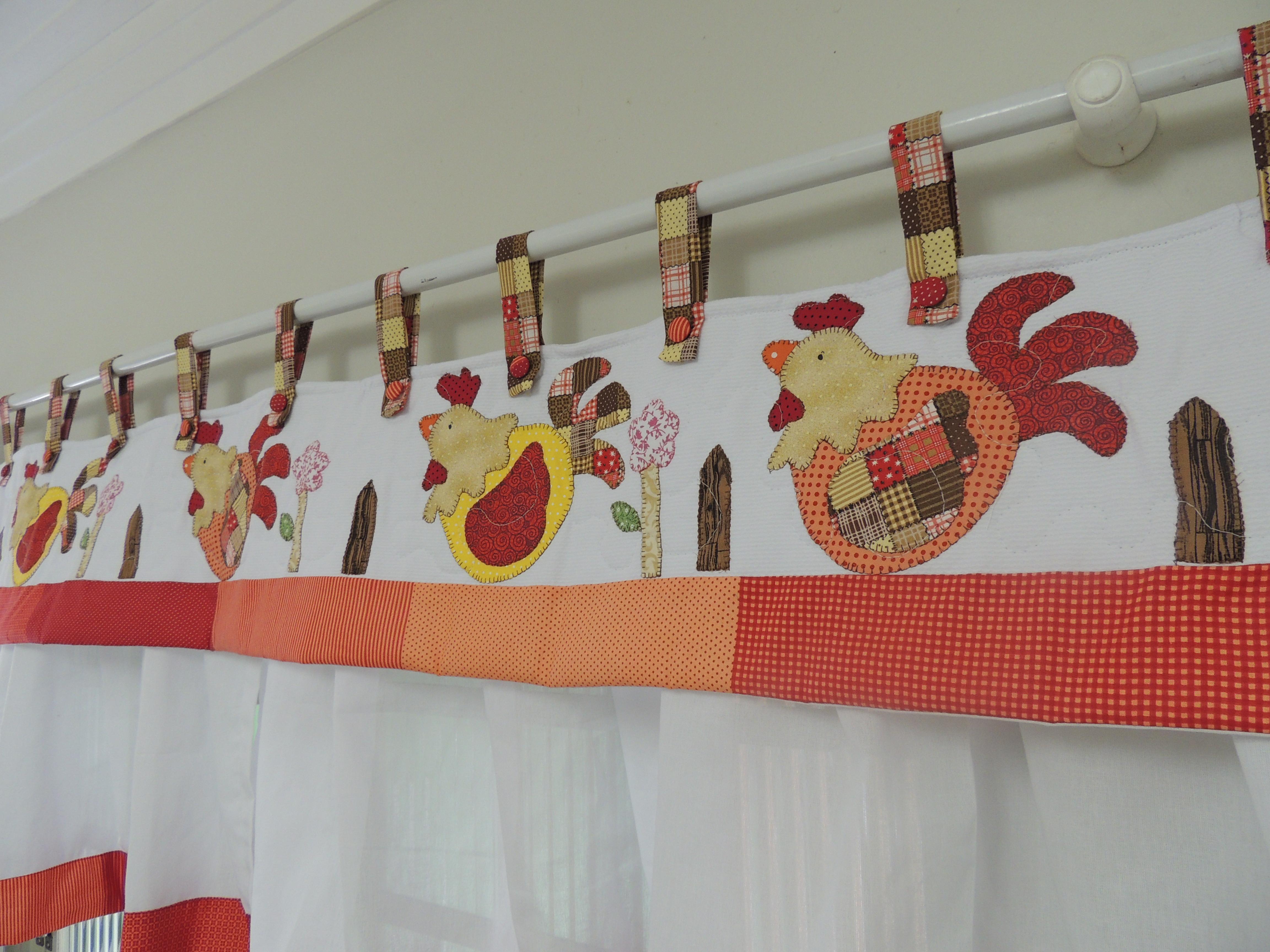 de cozinha galinha patchwork cortina de galinha cortina de cozinha
