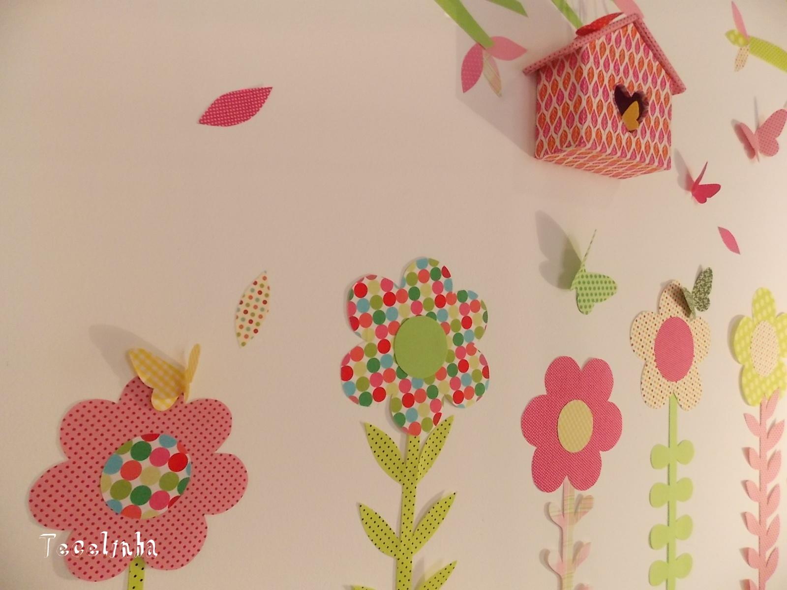 decoracao quarto de bebe jardim encantado : decoracao quarto de bebe jardim encantado: de tecido maternidade jardim encantado adesivos de tecido bebe