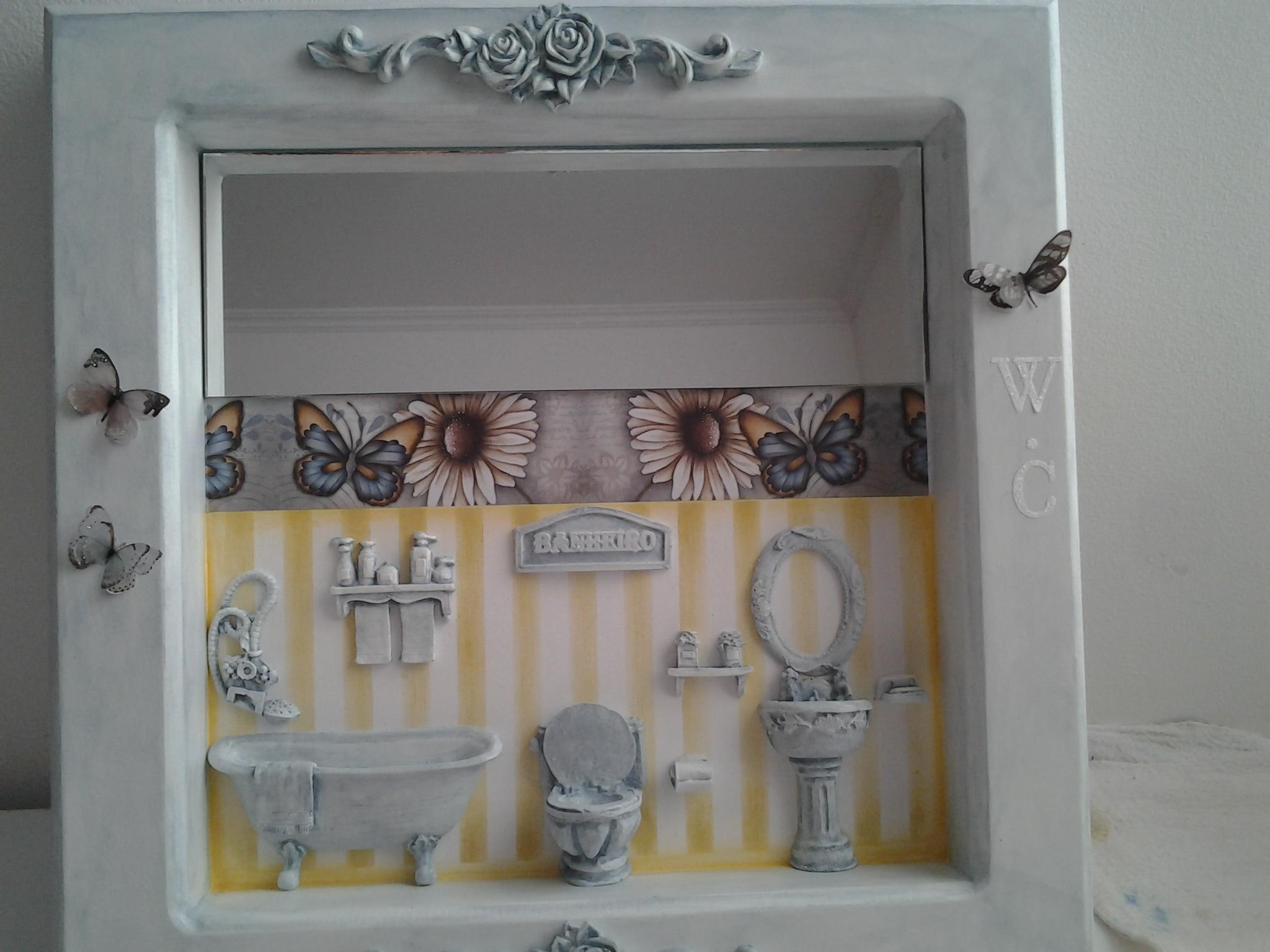 quadro mdf para lavabo atelier cris pinheiro elo7. Black Bedroom Furniture Sets. Home Design Ideas