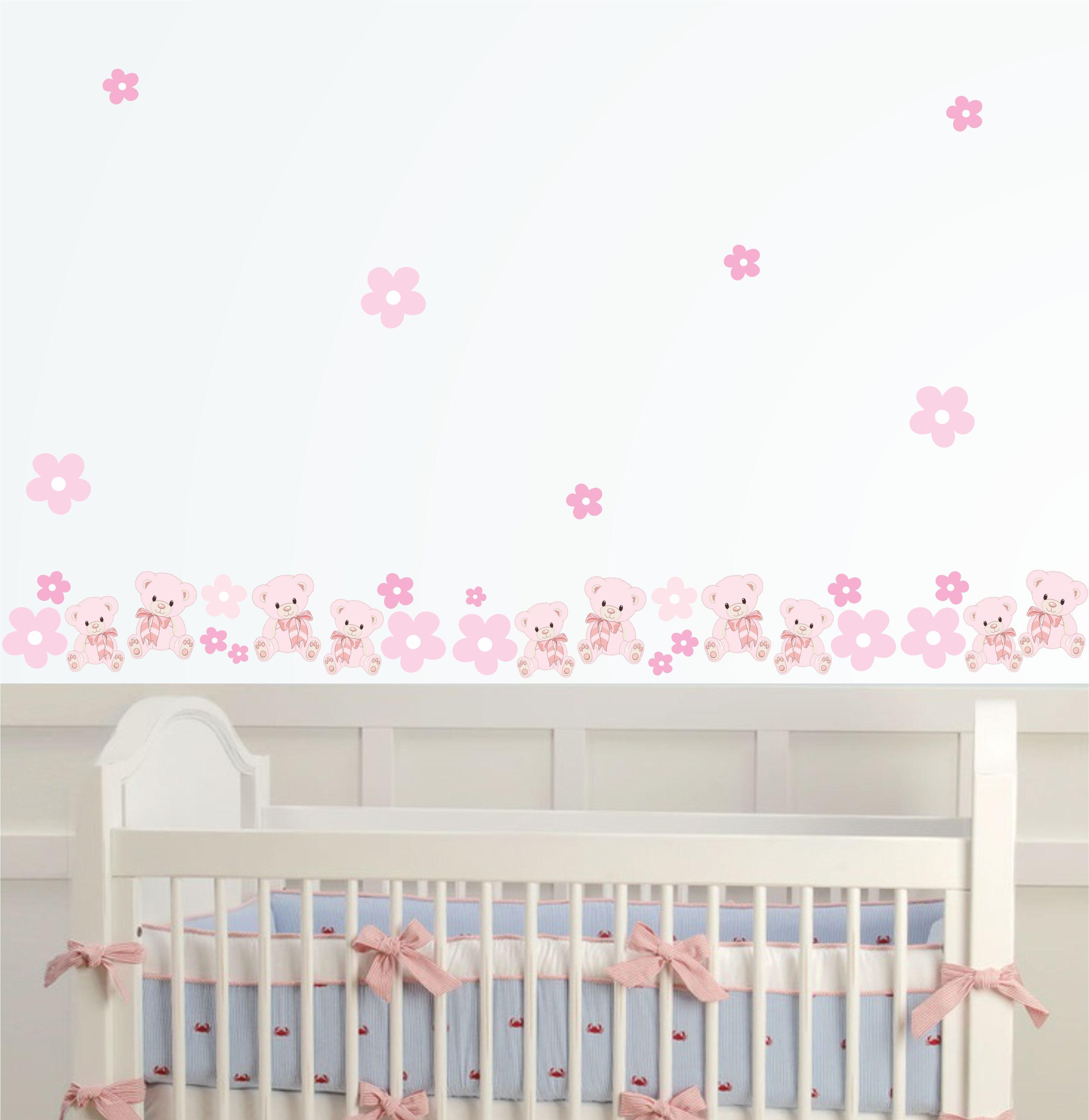 Faixa De Adesivo Para Quarto De Bebe ~   bebe ursinha adesivo de parede adesivo faixa bebe ursinha faixa para