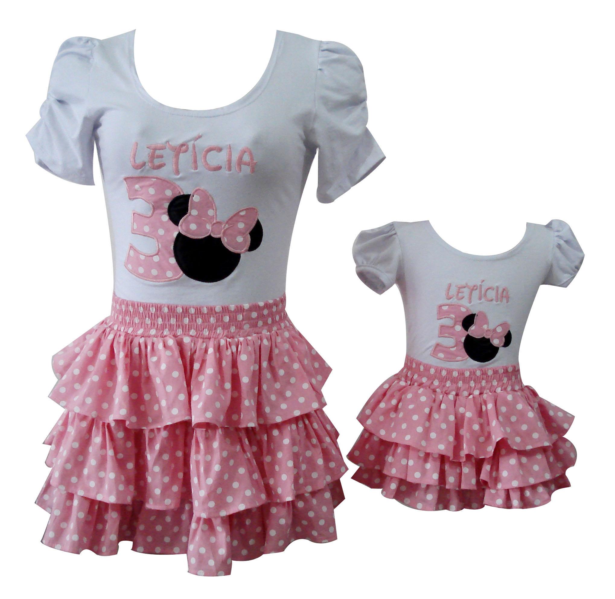 conjunto minnie rosa mae e filha 1118 conjunto minnie rosa mae e filha
