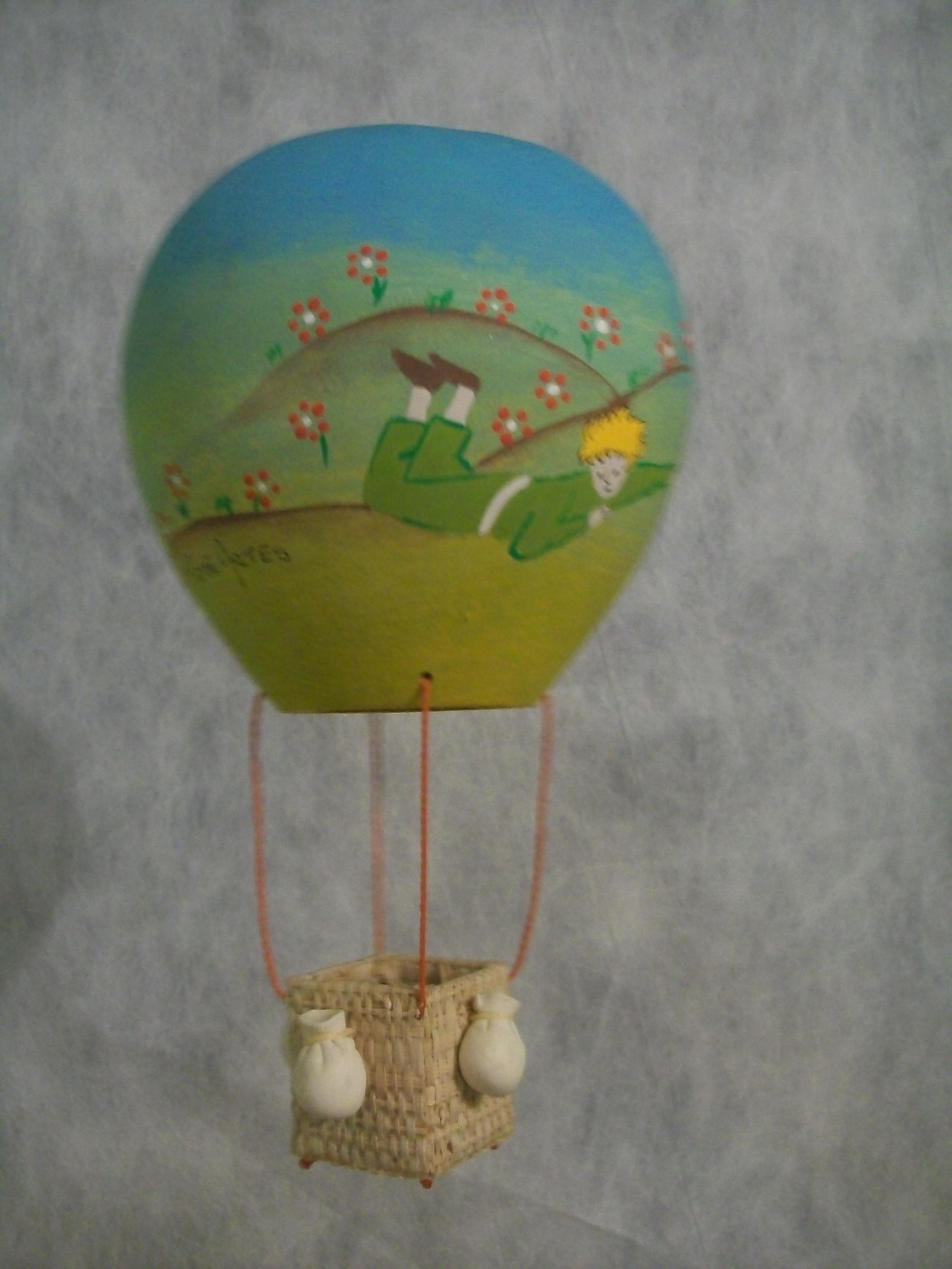 artesanato no jardim : artesanato no jardim:Balão Pequeno Príncipe no jardim