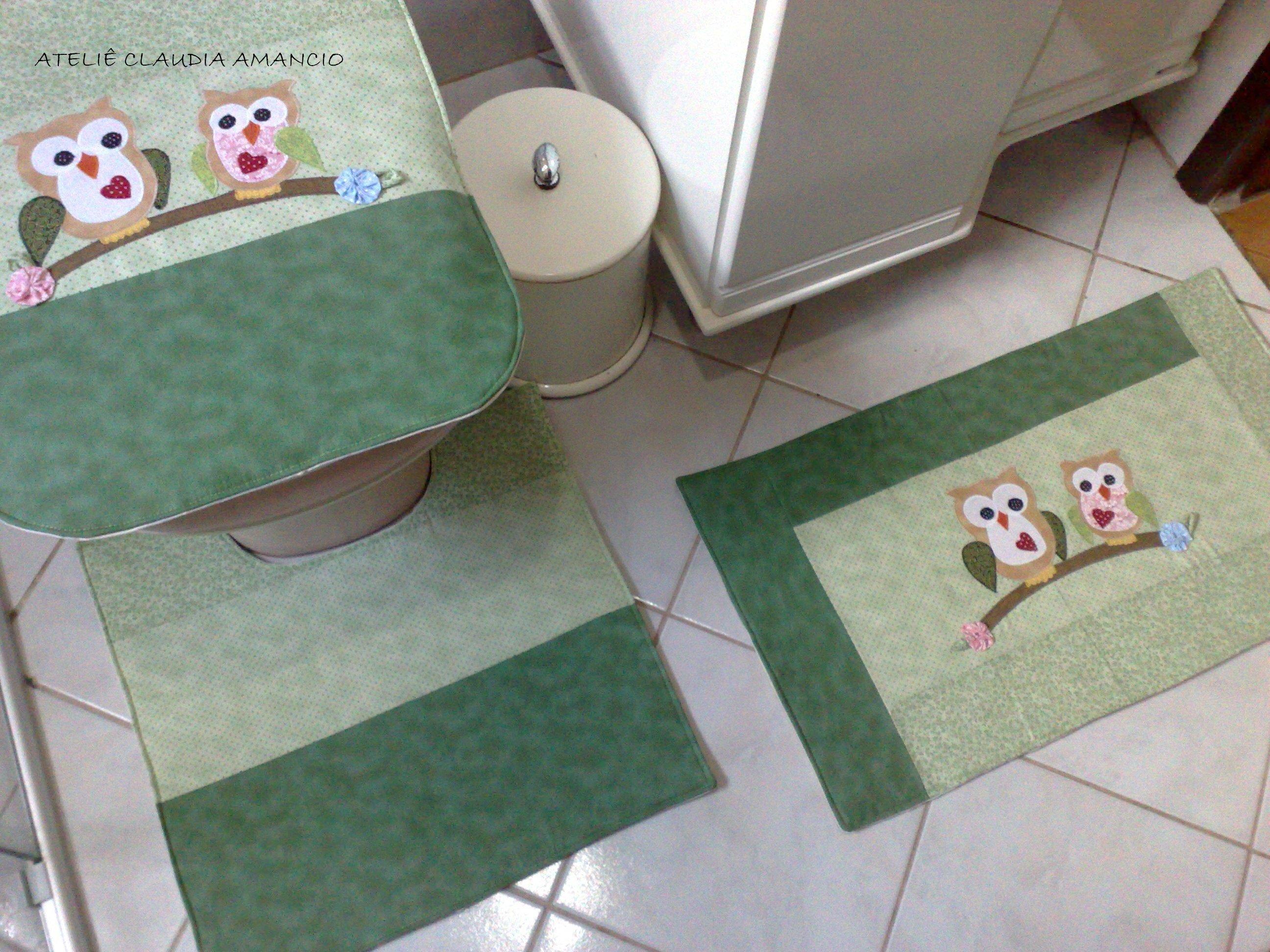 de banheiro jogos: de banheiro tapete coruja jogo tapetes de banheiro  #614C41 2592x1944 Banheiro Azul