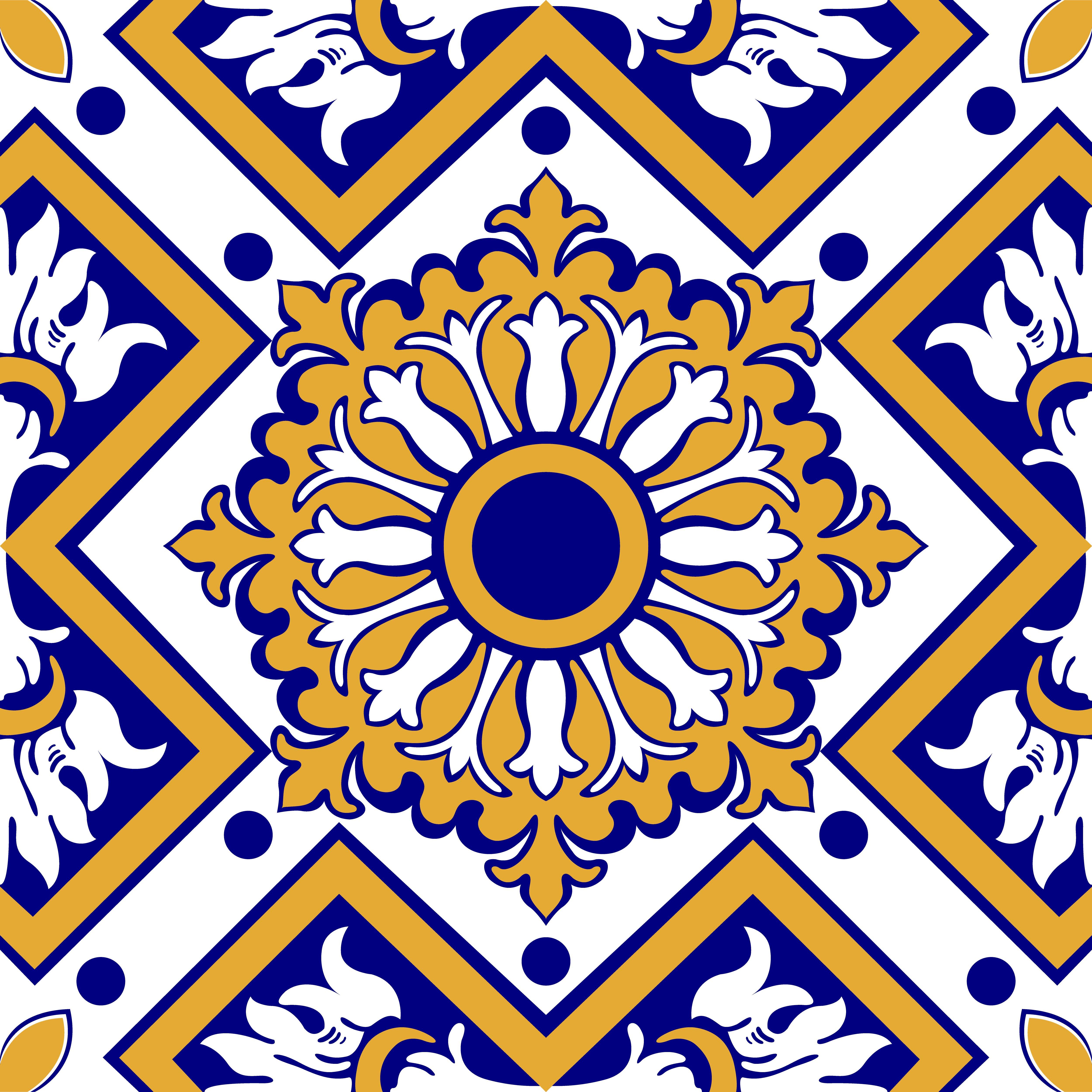 Azulejo adesivo az093 arabesco design elo7 - Azulejos de pared ...
