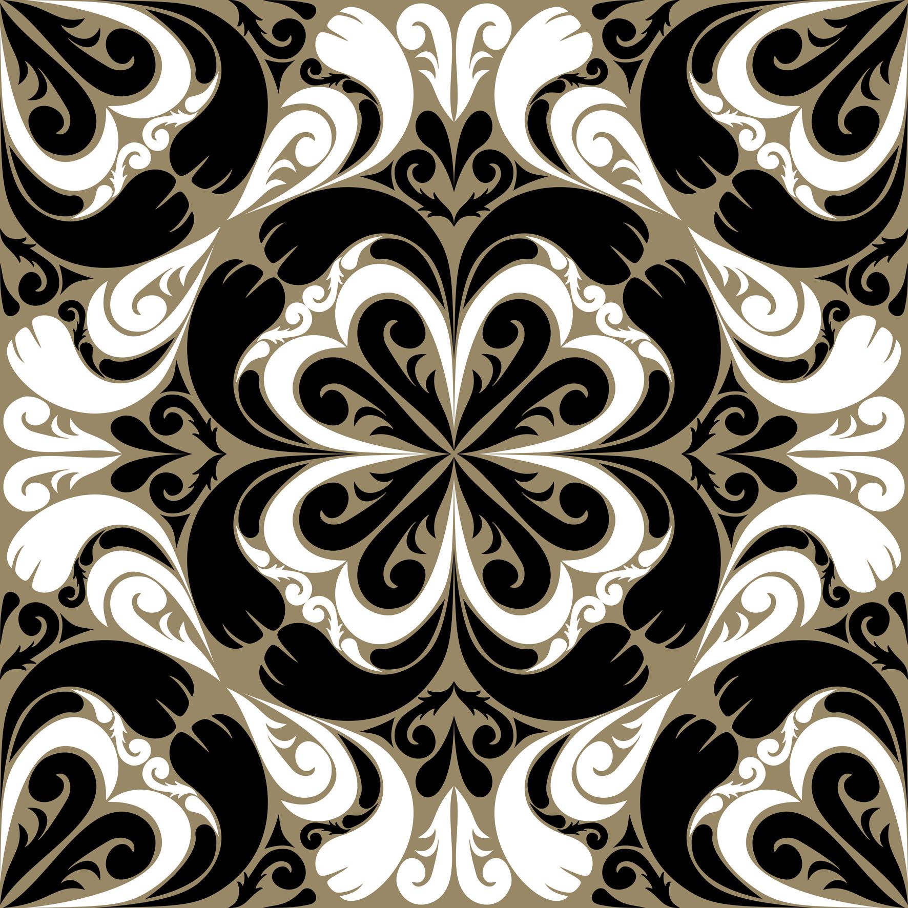 Azulejo Adesivo : AZ069 Arabesco Design Elo7 #7C6D4F 1772x1772 Azulejo Banheiro Tamanho