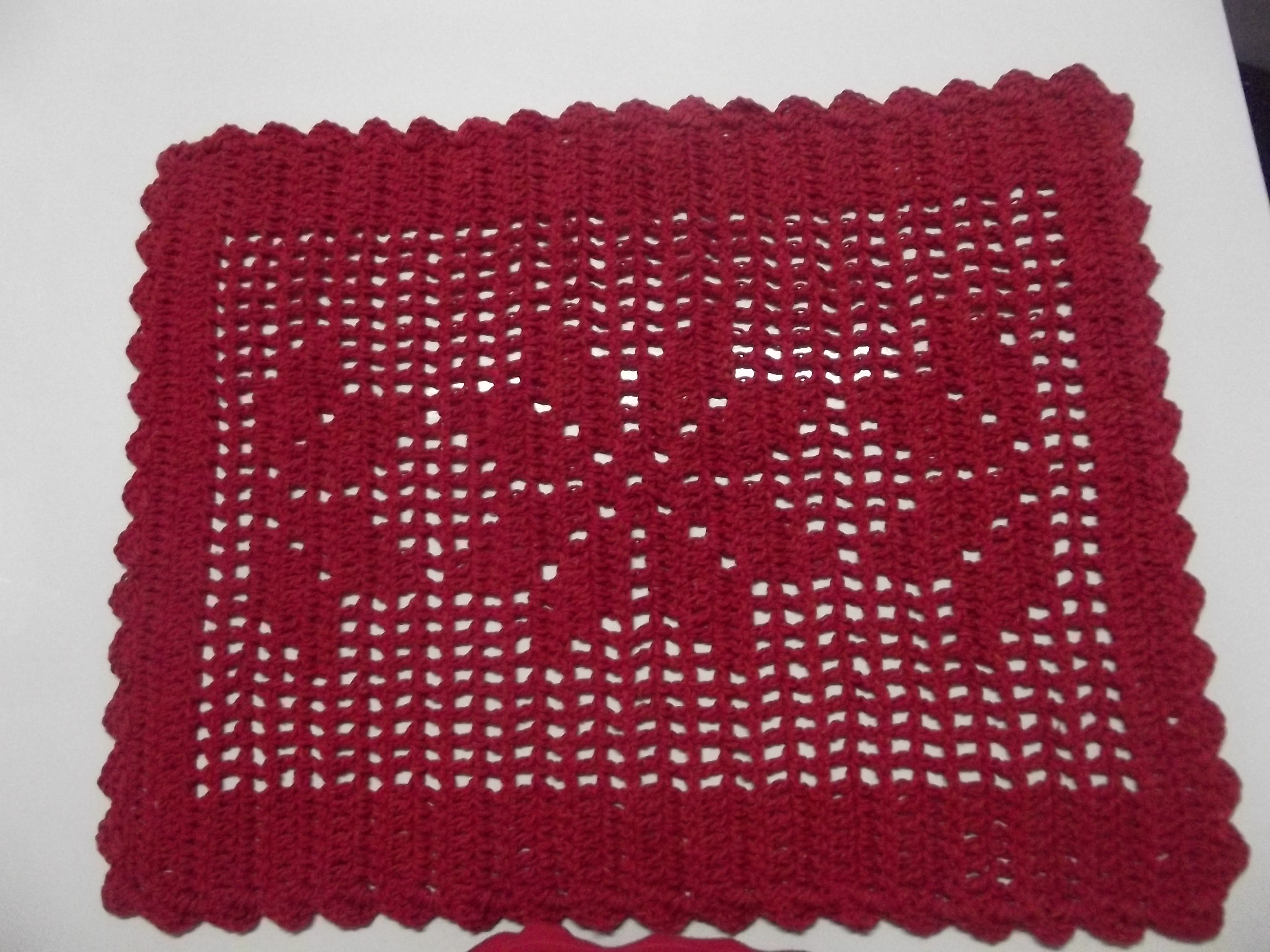 Arte Brasil Tapete Cinderela : tapete-retangular-vermelho-tapete-croche-barbante-vermelho.jpg
