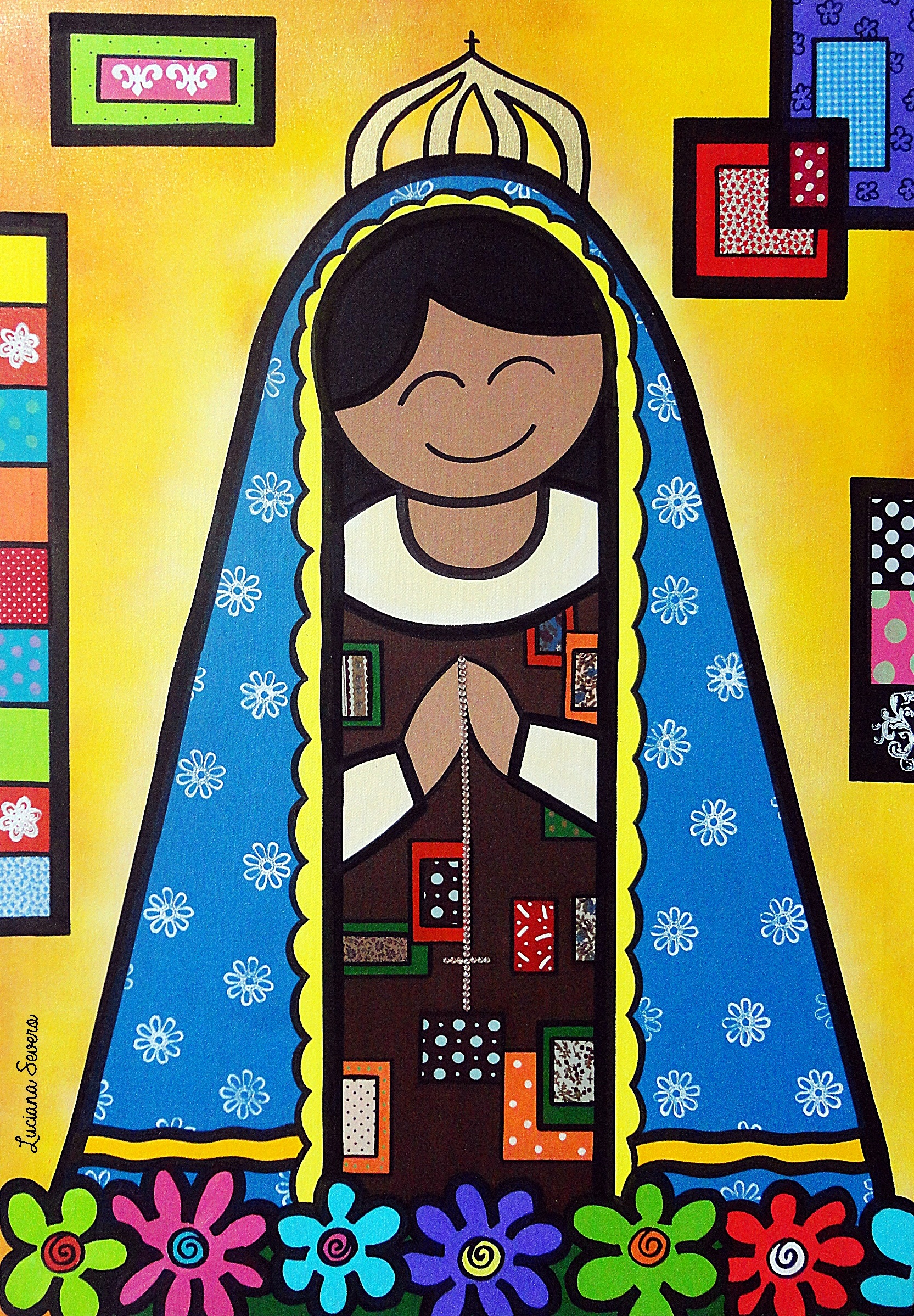 Painel Nossa Senhora Aparecida ATELIÊ DE ARTES PLÁSTICAS BY  #BCA30F 1665x2397
