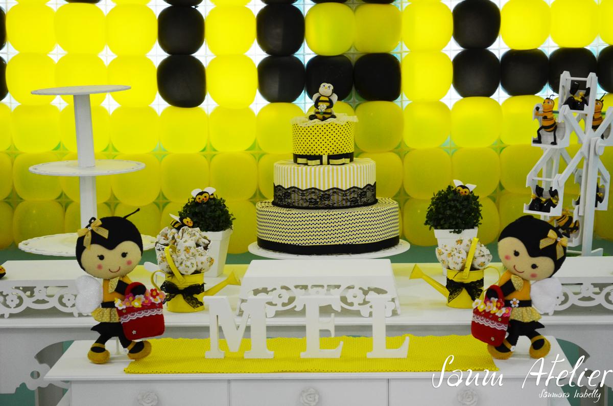 Decoração Abelhinhas Sanm Atelier Elo7 #C8C603 1200x795 Banheiro Amarelo E Preto