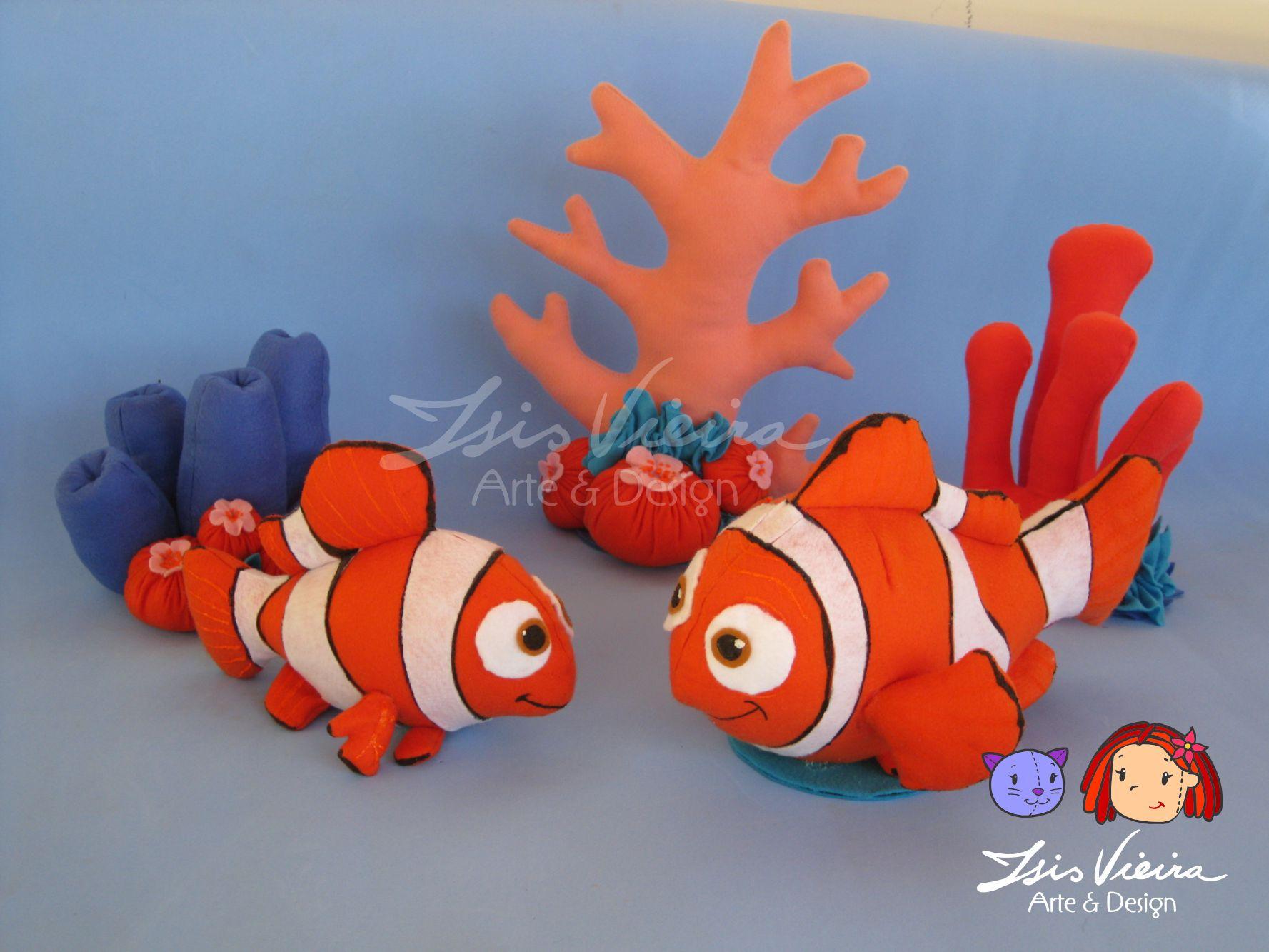 Isis Vieira Arte E Design Procurando Nemo Em Feltro | Super Hot Mobile