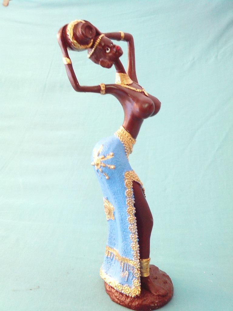 Enfeite De Gesso ~ Africana em Gesso 0175B Radical Decorados Elo7