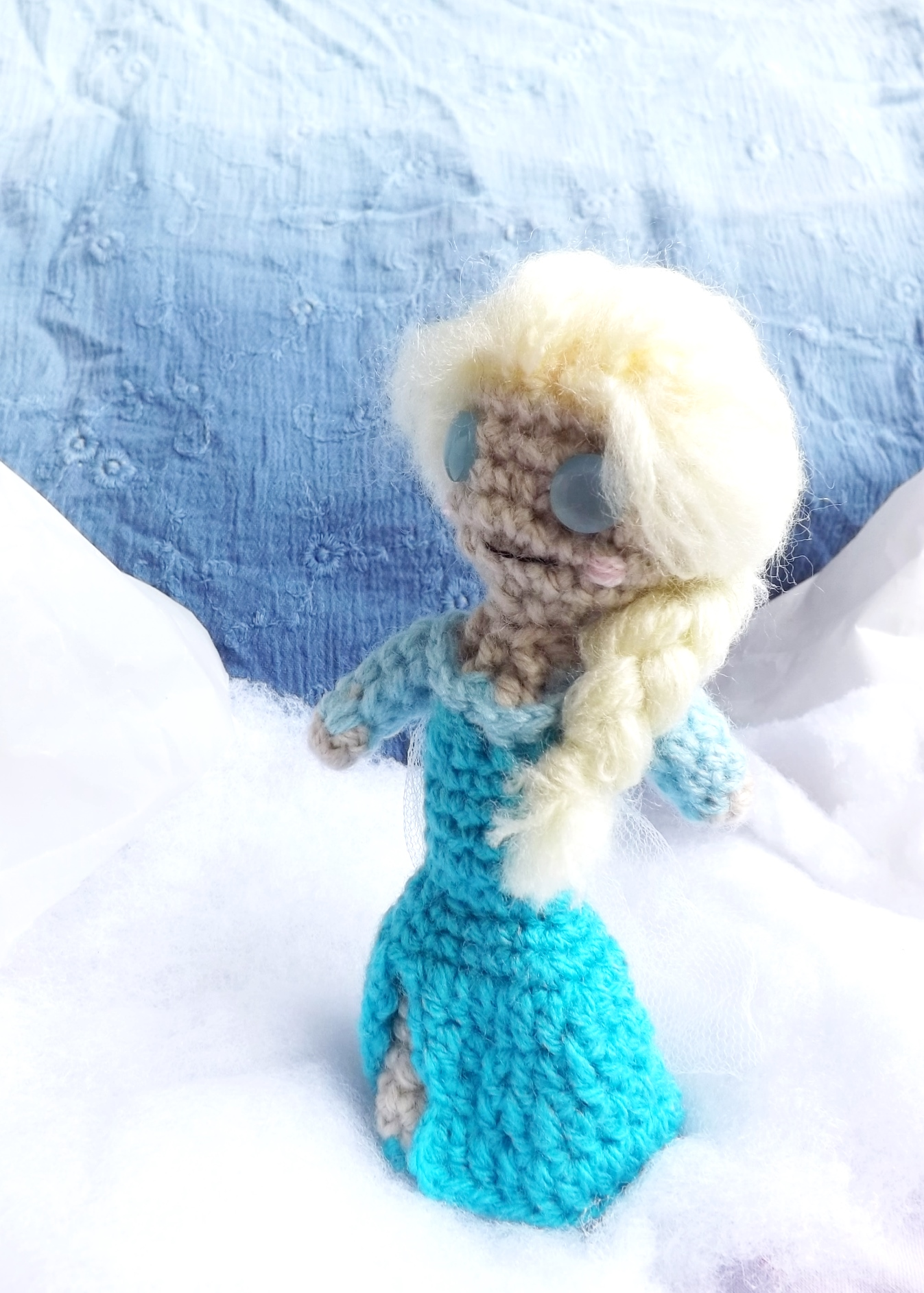 Amigurumi Elsa : Fantasia rainha Elsa (filme Frozen) Marli Bressler Elo7