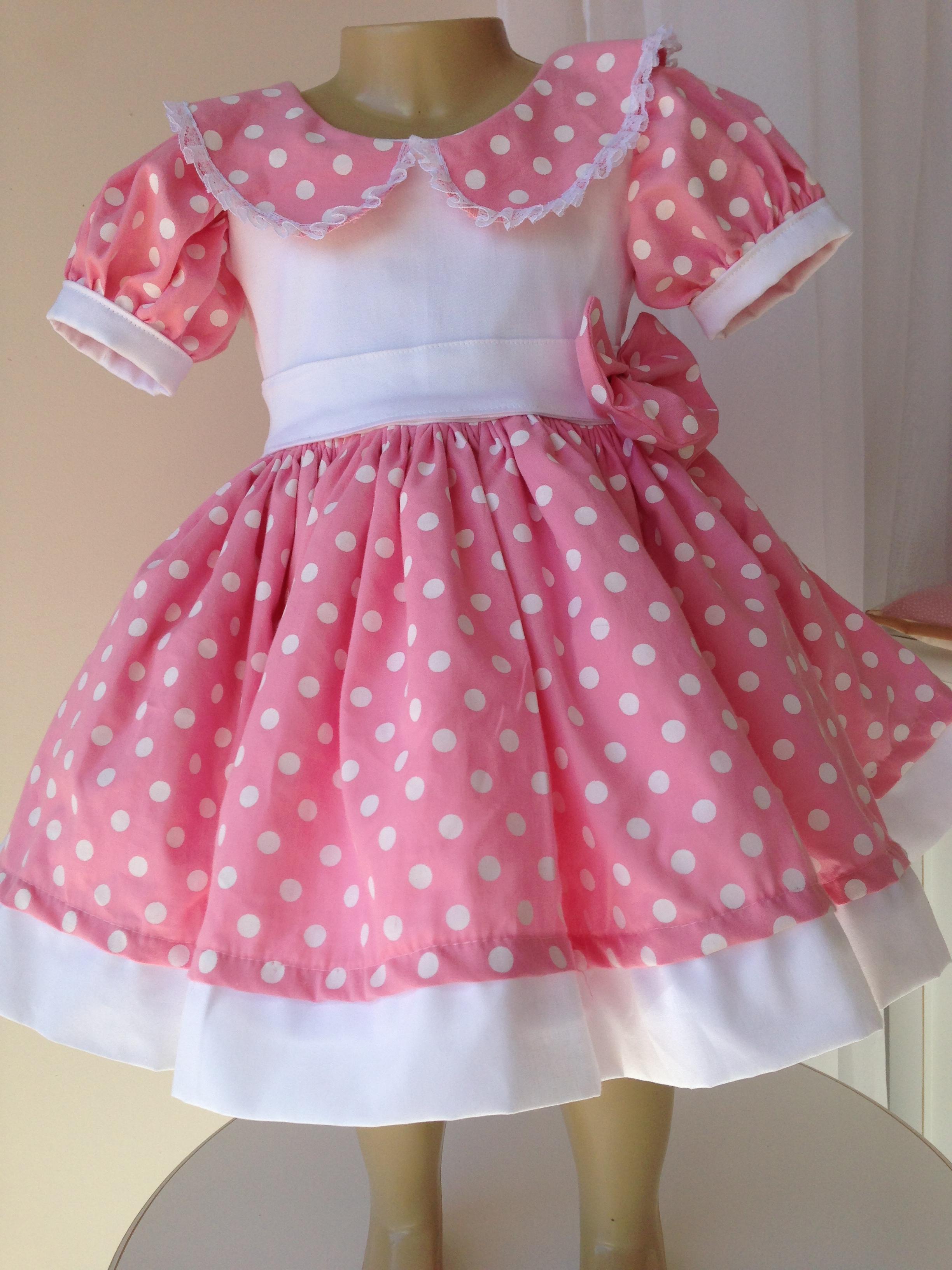 Fantasia Roupa Vestido Minnie Rosa Licenciada Disney | LONG HAIRSTYLES