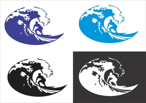 Aparador Com Pés Em X ~ Adesivo de parede onda surf surfista Adesivos de Parede