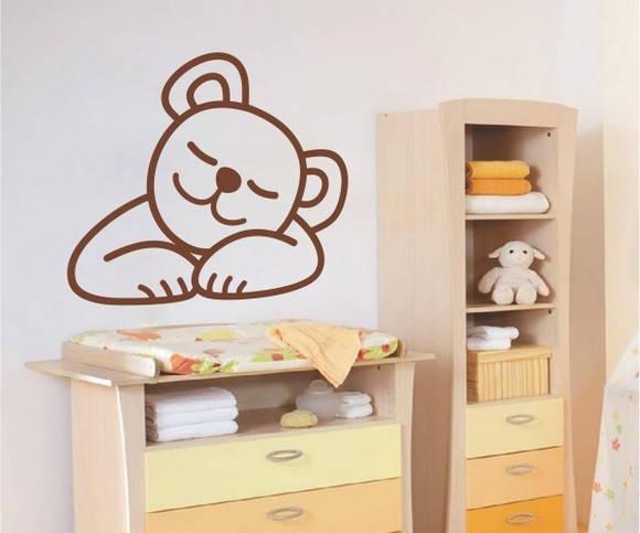 Adesivos de geladeira urso dormindo Adesivos de Parede
