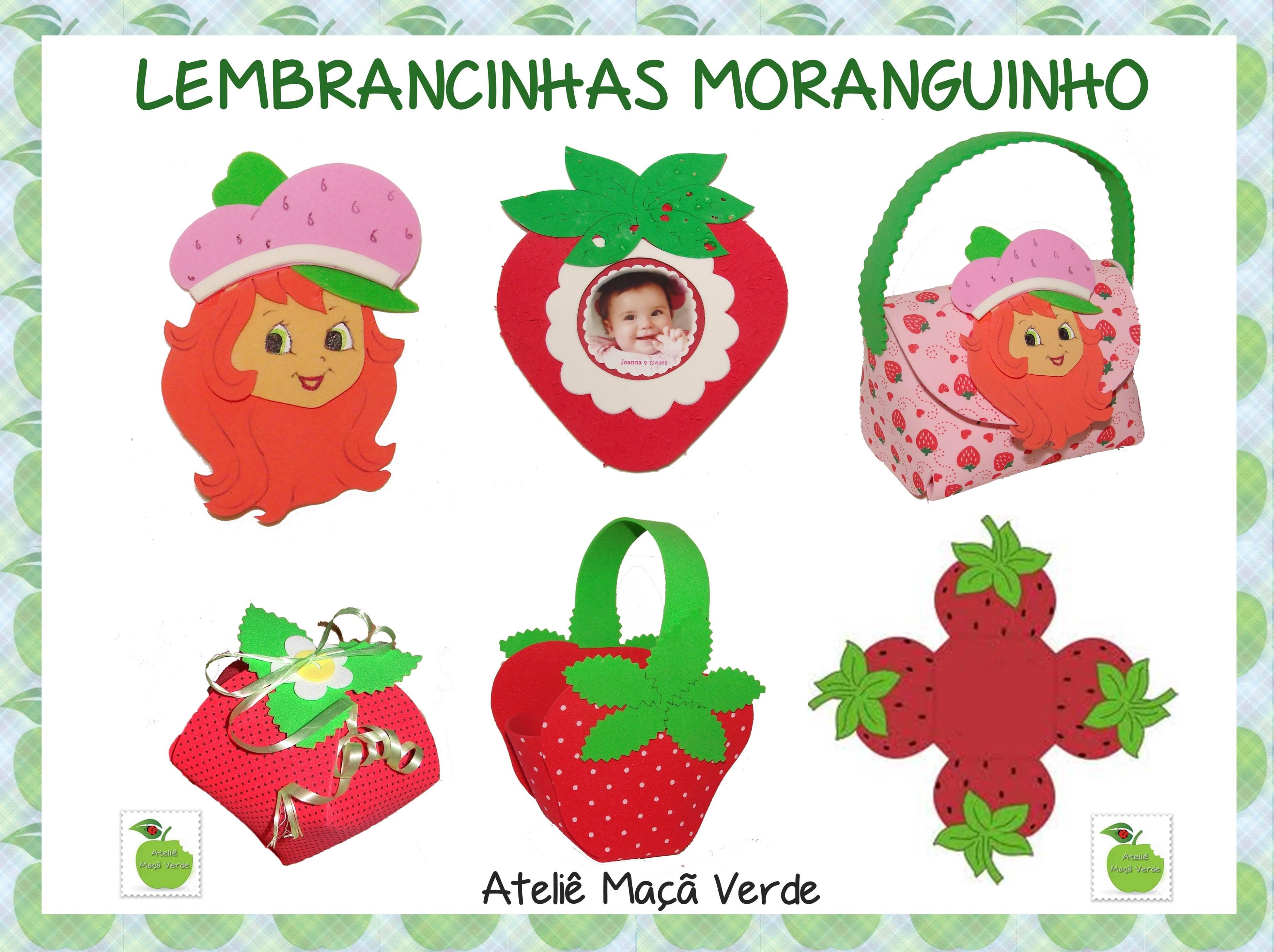 Molde Lembrancinhas Moranguinho | Ateliê Maçã Verde | Elo7