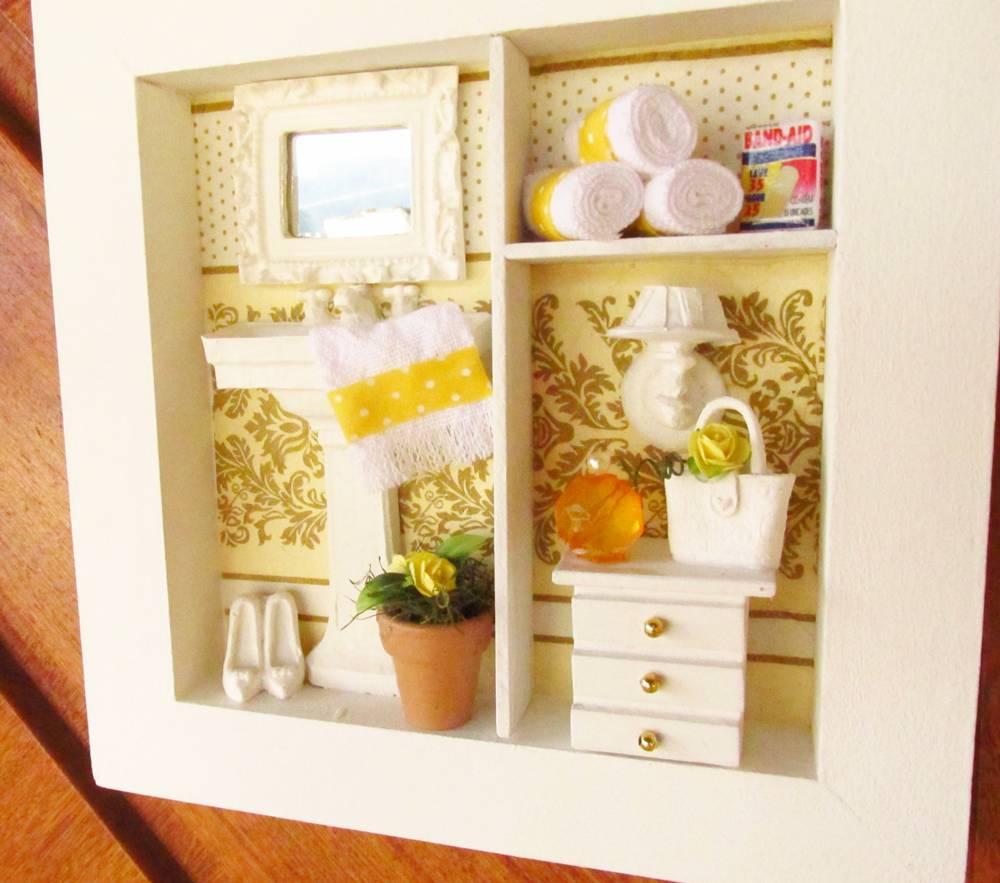 decoracao banheiro quadros – Doitricom -> Decoracao De Banheiro Amarelo