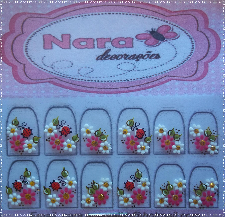Armario Indoor Barato ~ Adesivo De Unha Com Joaninha Nara Decorações Elo7