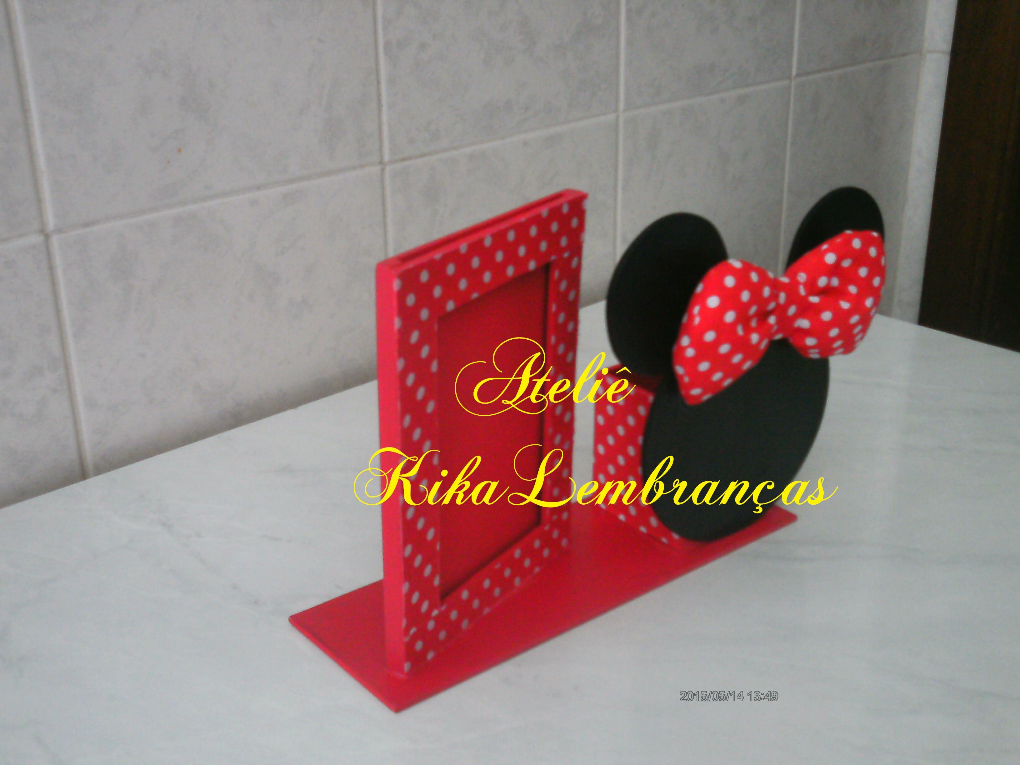 Minnie Rosa - Kit Completo com molduras para convites